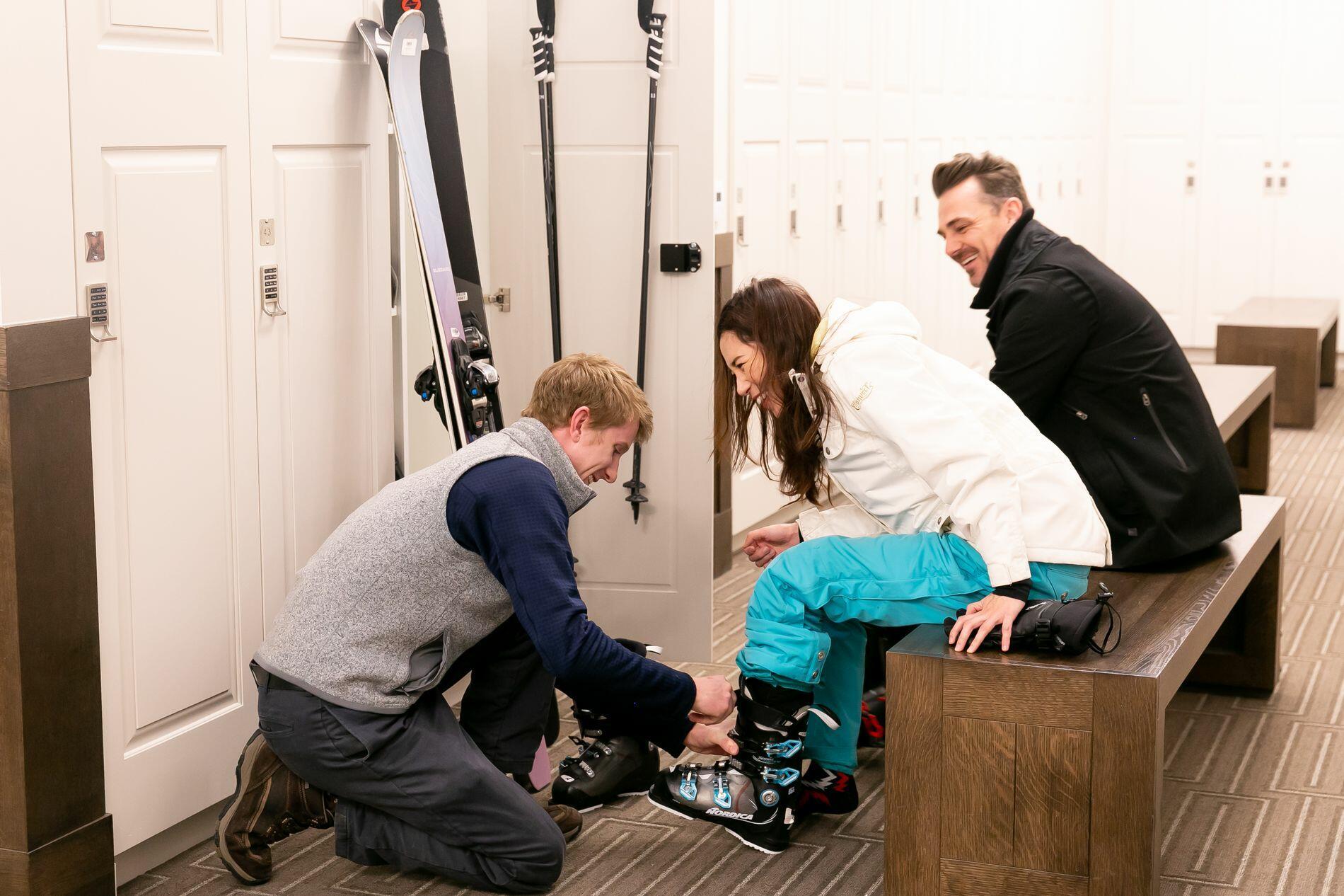 Stein Eriksen Residences Ski Locker Room