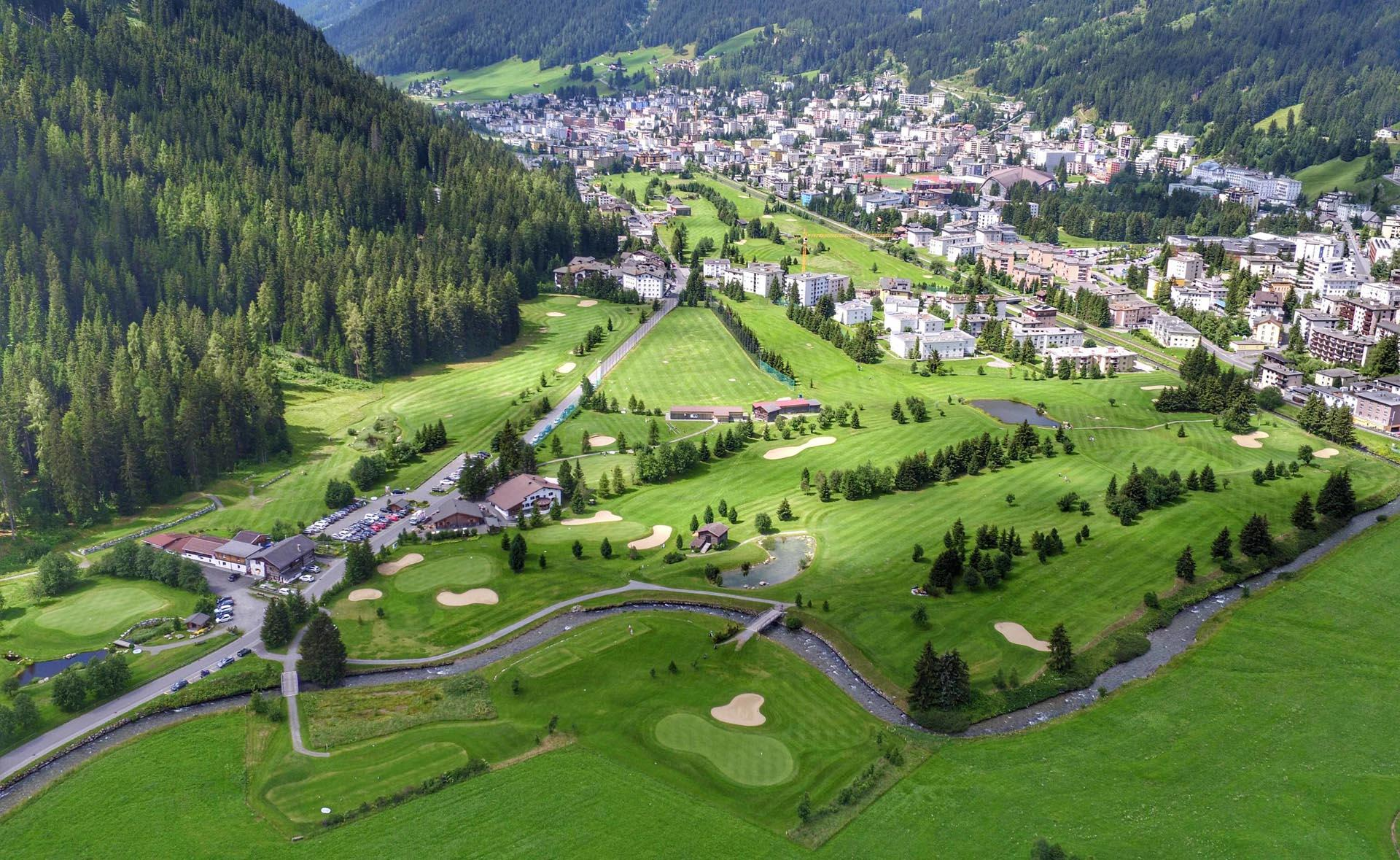 View of the golf courses in Davos Klosters