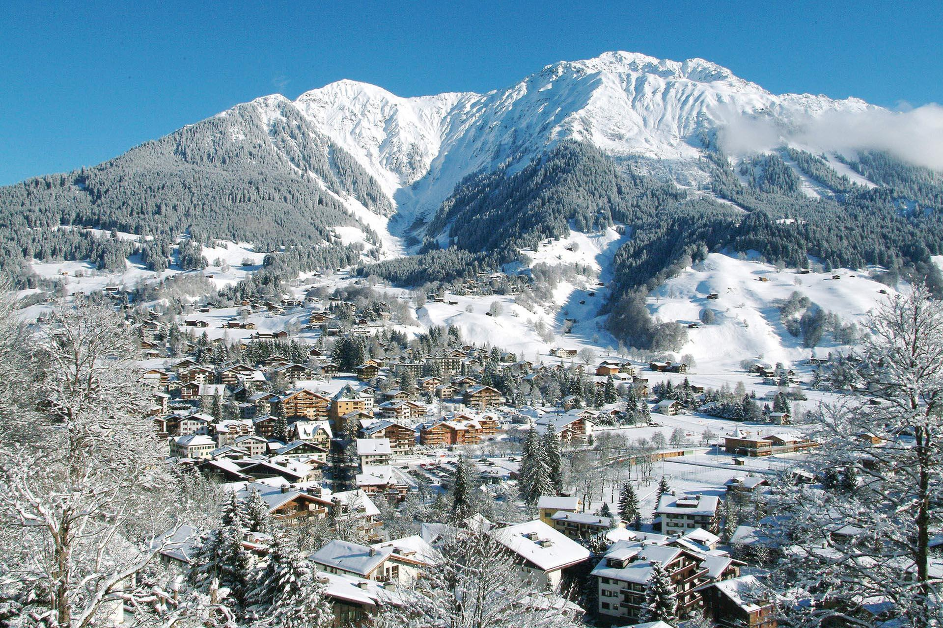 View of the mountains of Davos Klosters