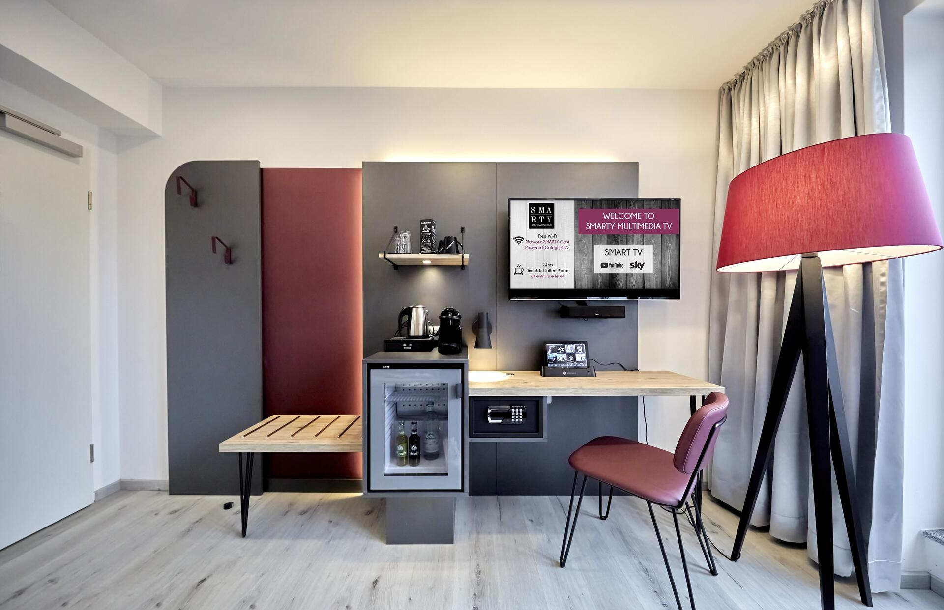 Accommodation at SMARTY Cologne Downtown Hotel