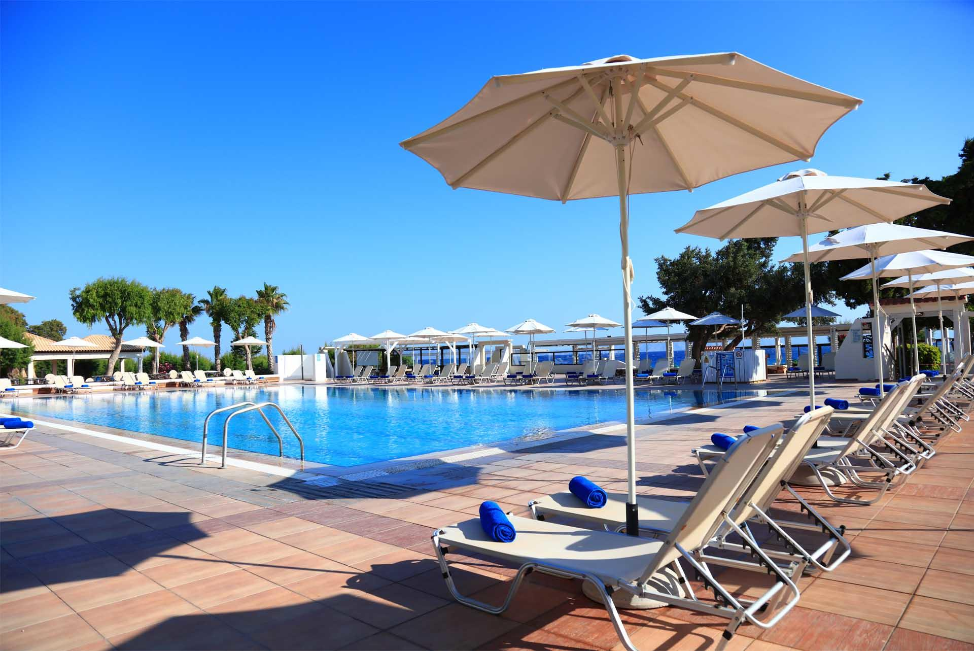 Deckchairs And Umbrellas At Labranda Blue Bay Resort