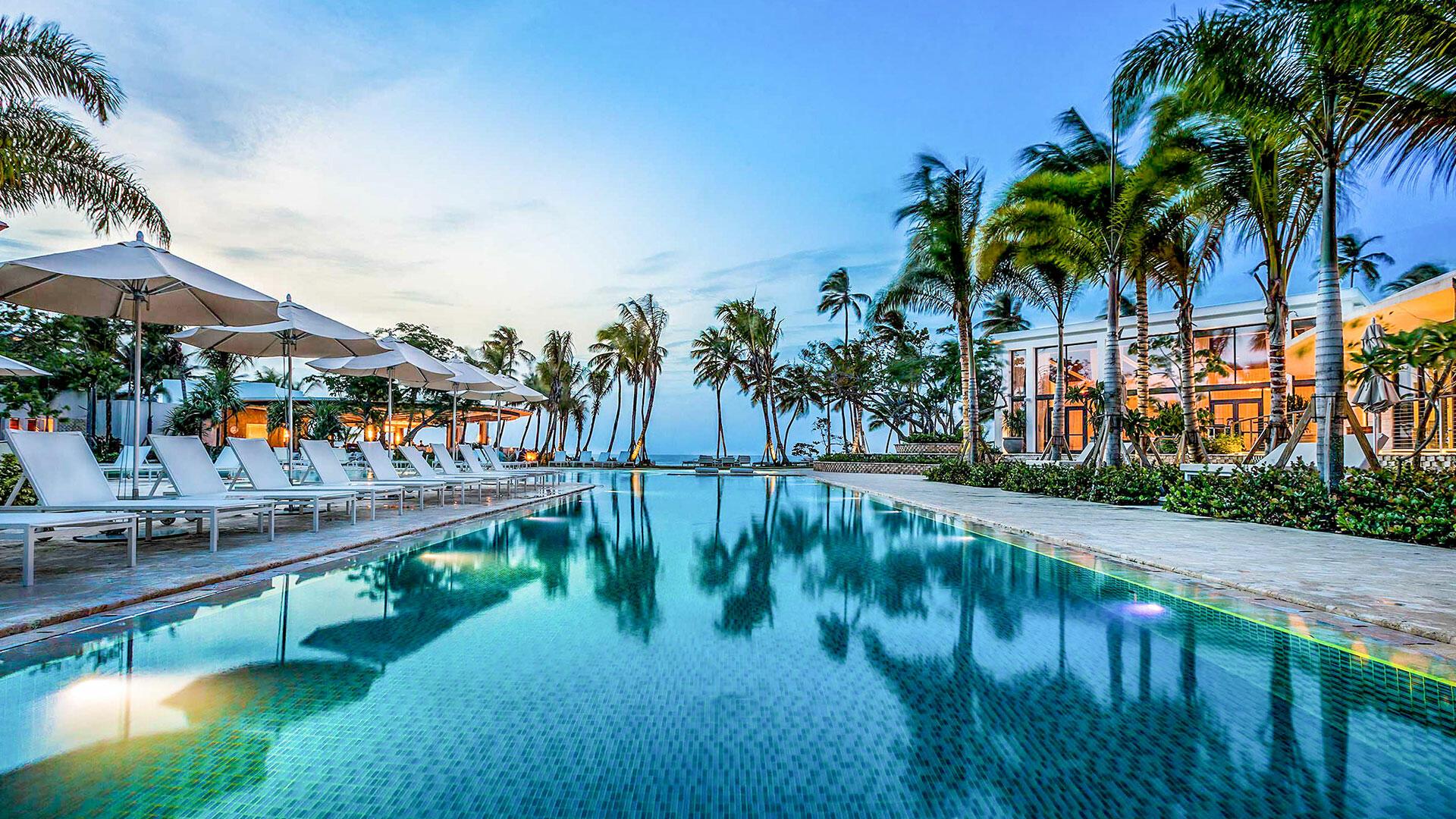 View of Encanto Beach Club at Dorado Beach Resort