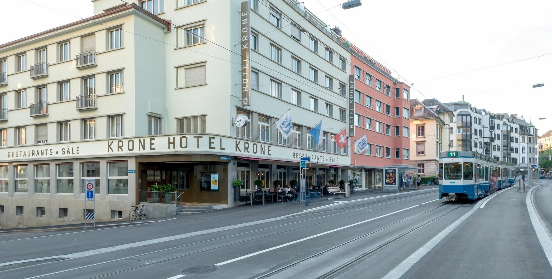 Tramstation near Hotel Krone Unterstrass in Zurich