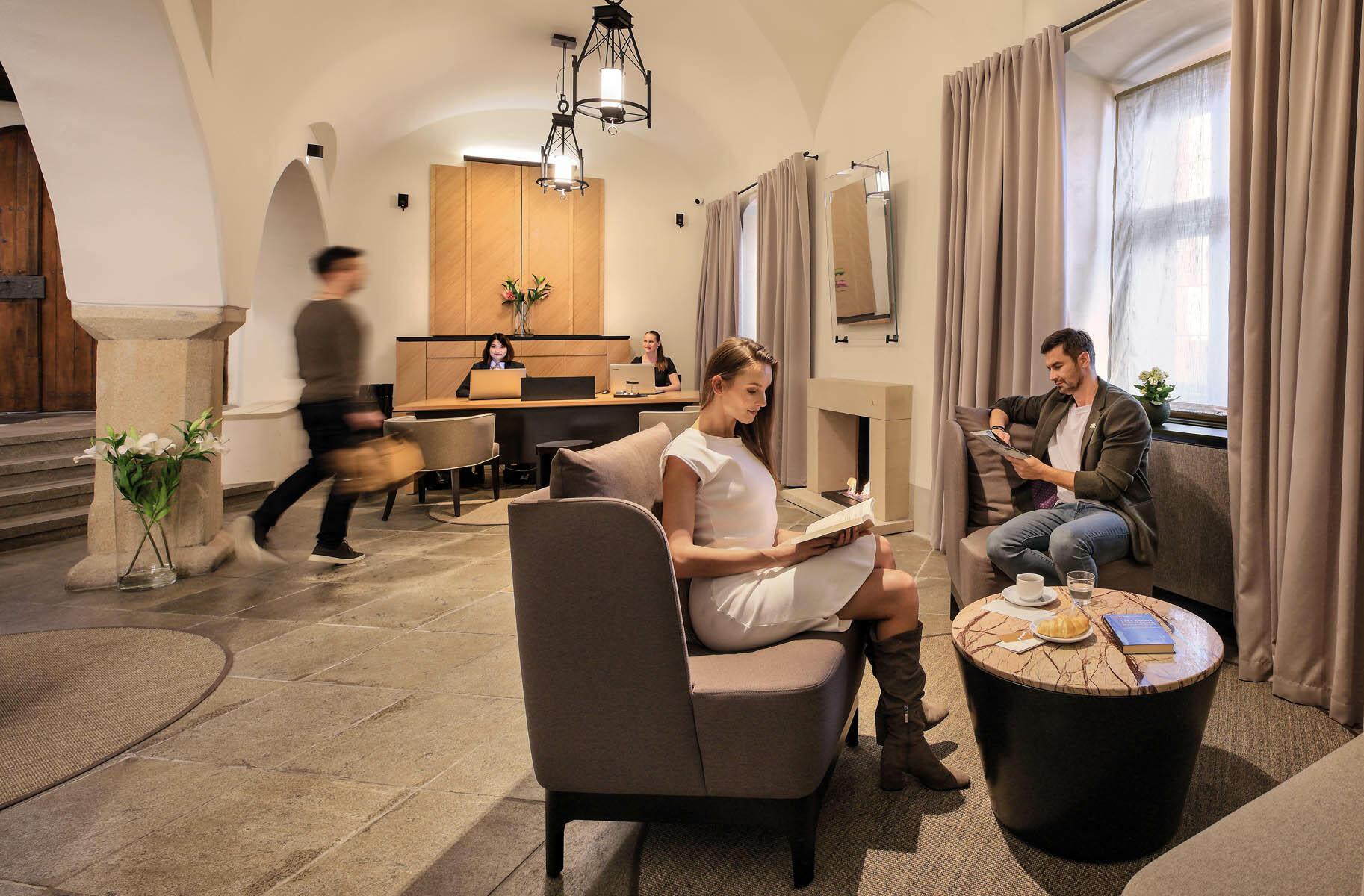 Reception Lobby at Hotel Old Inn, Český Krumlov