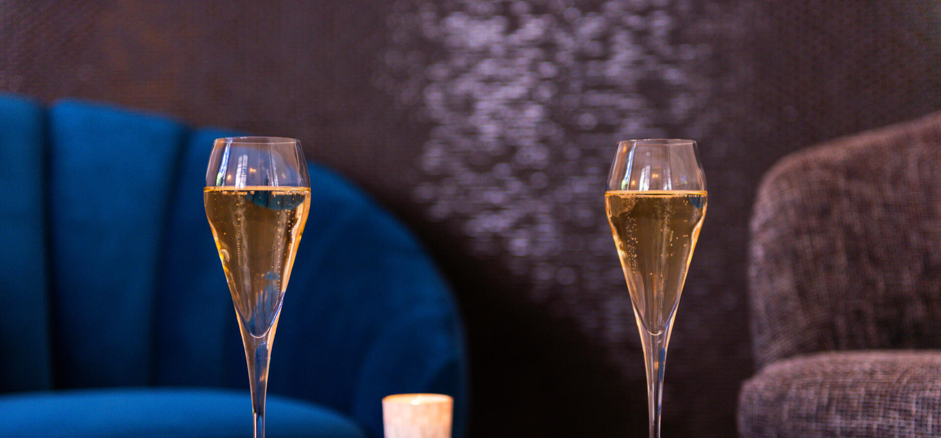 Champagne at Hotel Anne d'Anjou in Saumur, France