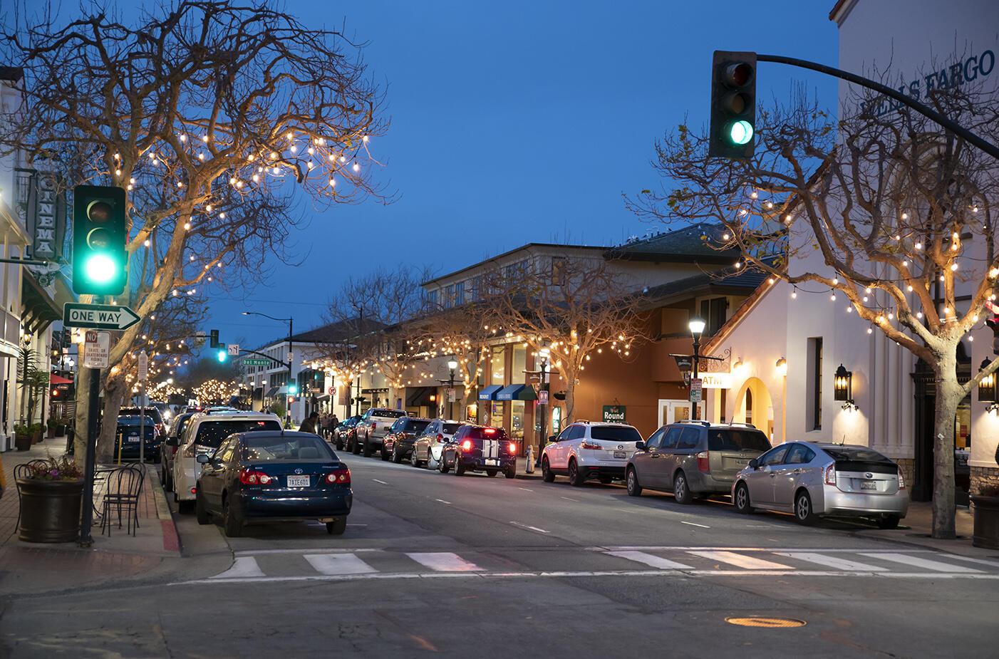 Street parking in Monterey