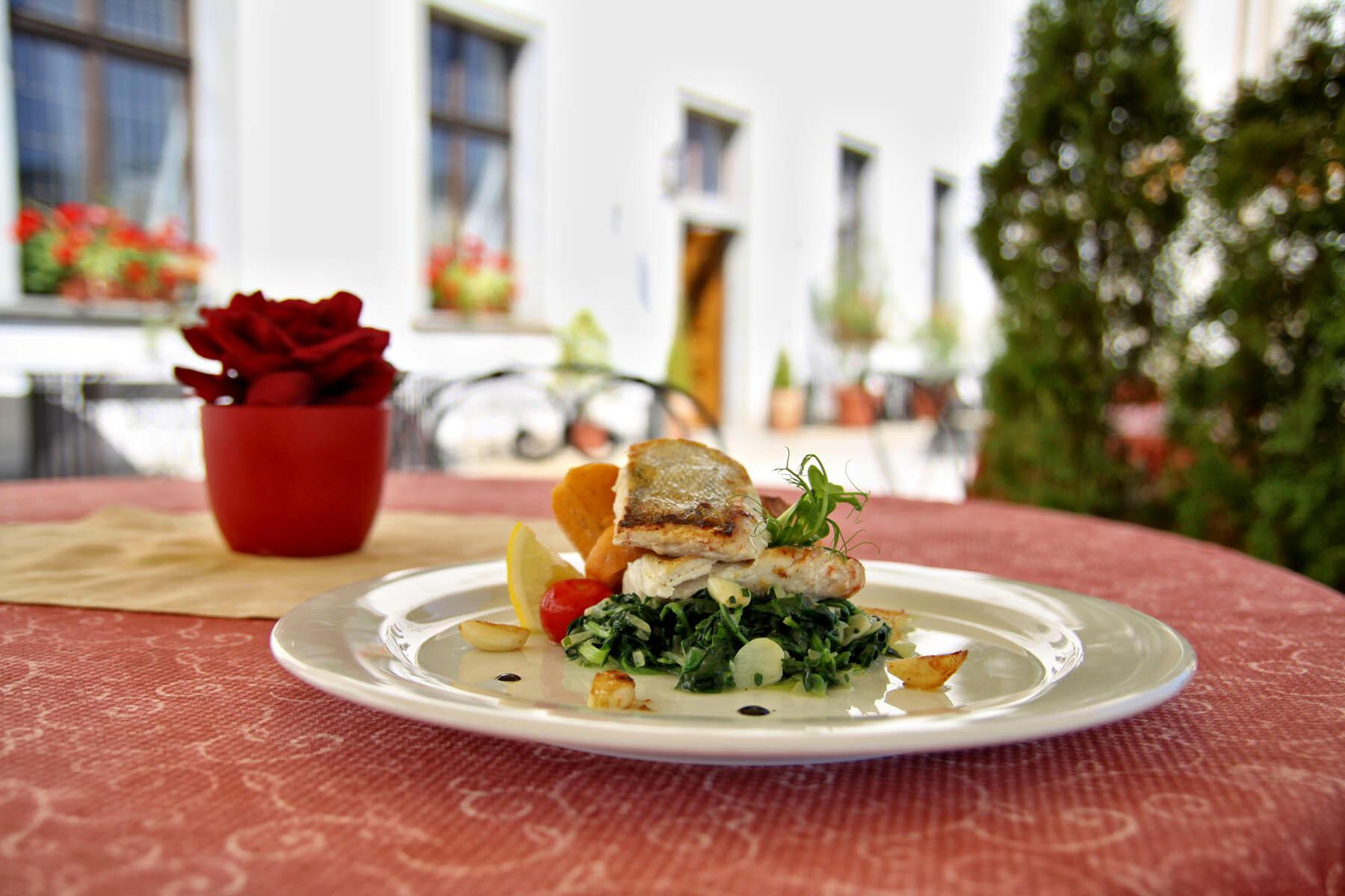 Lunch at Hotel Ruze, Český Krumlov, Czech Republic