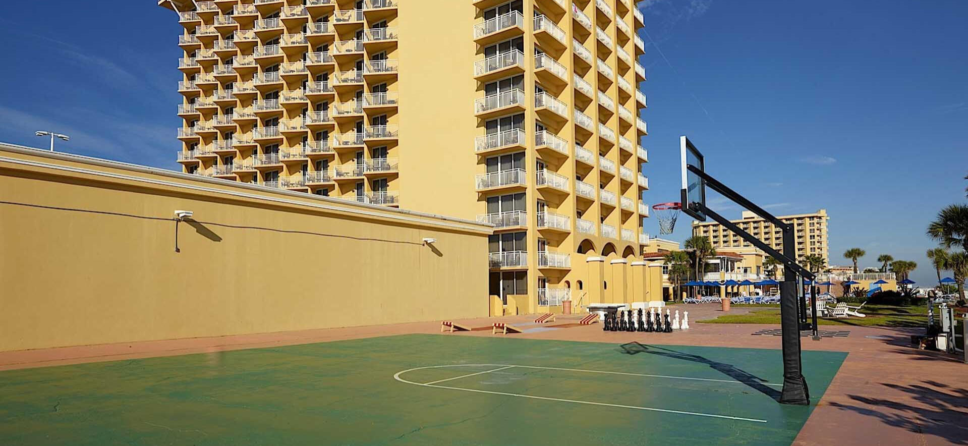 Basketball courts at The Plaza Resort