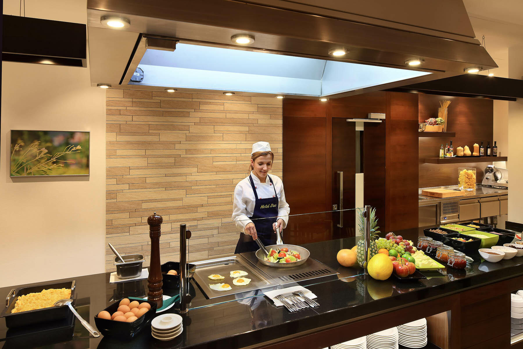 Breakfast Buffet at Hotel Duo, Prague 9, Czech Republic