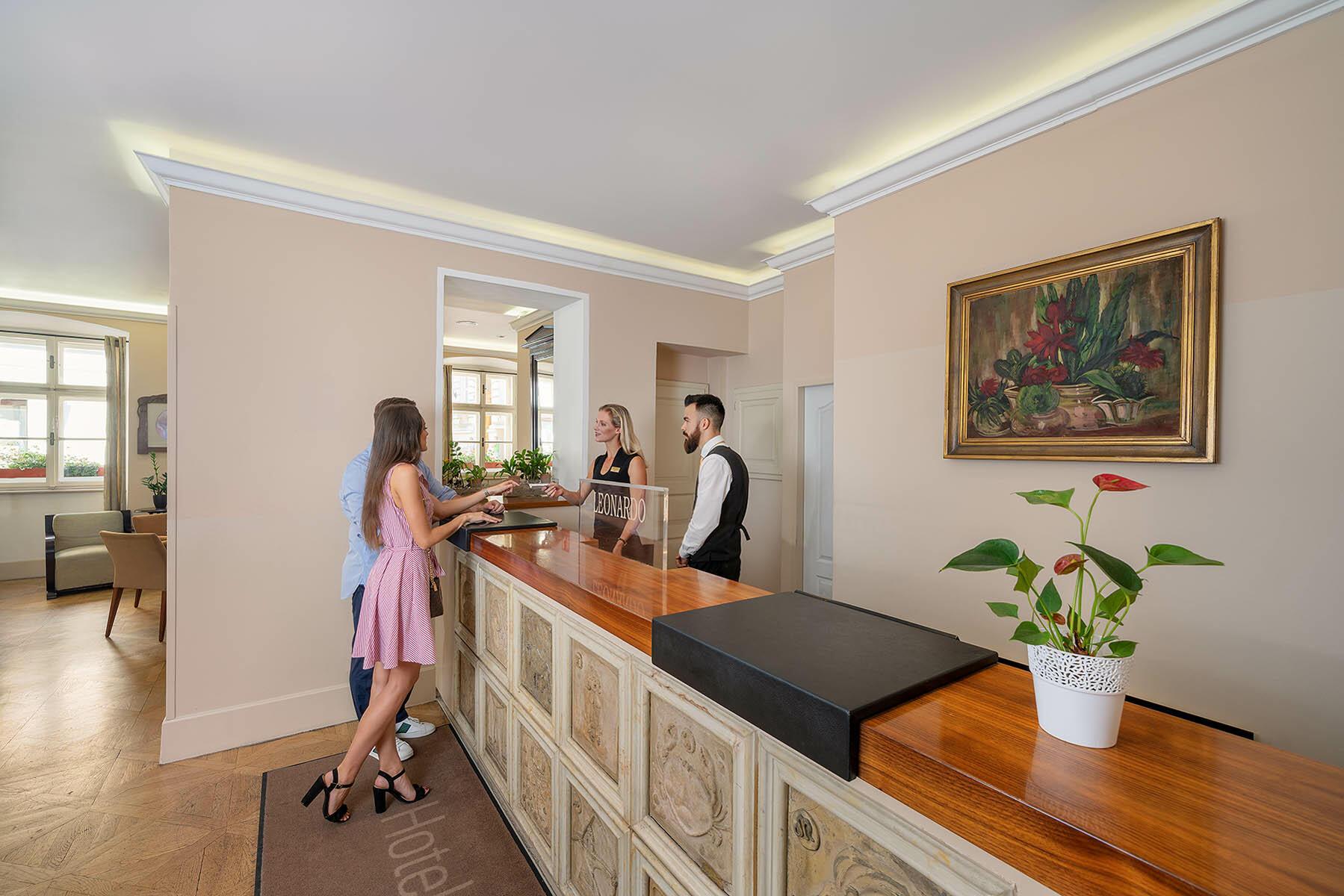 Guest Check-in at Hotel Leonardo, Prague 1, Czech Republic