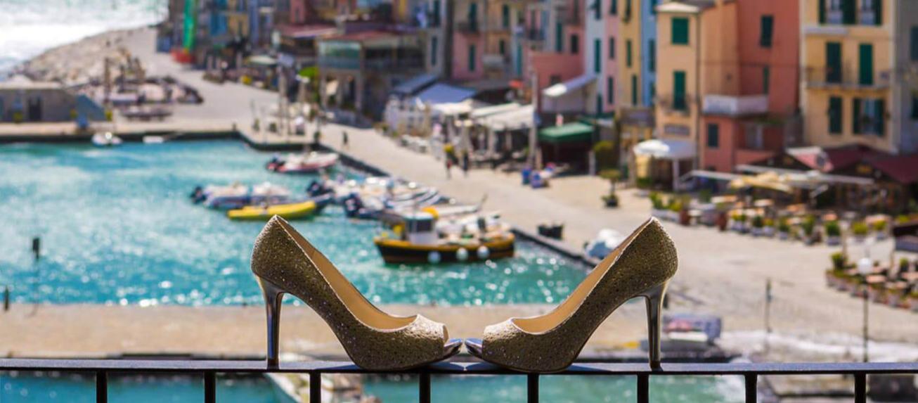 High heel court shoe on the fence -  Grand Hotel Portovenere