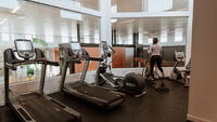 girl working out in fitness centre
