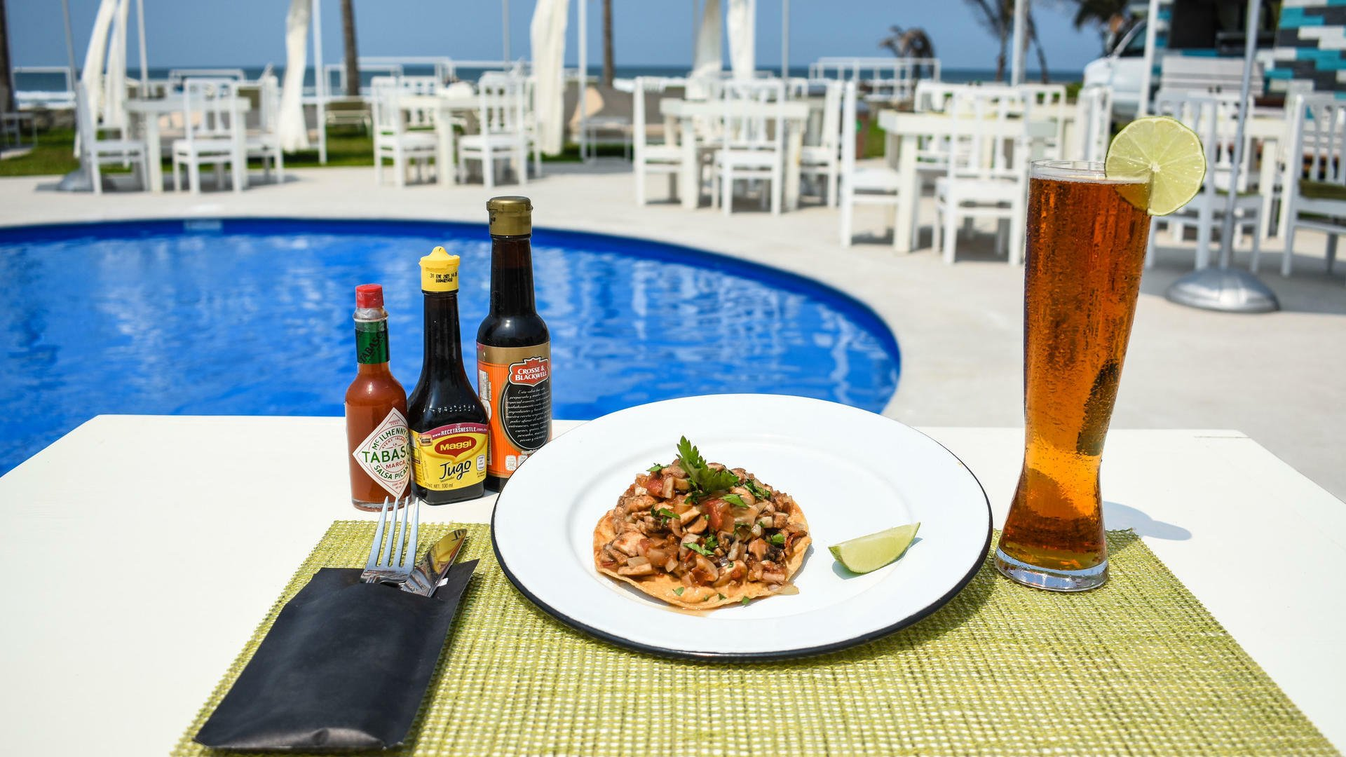 A dish served at Scala Ocean Club in Mundo Imperial
