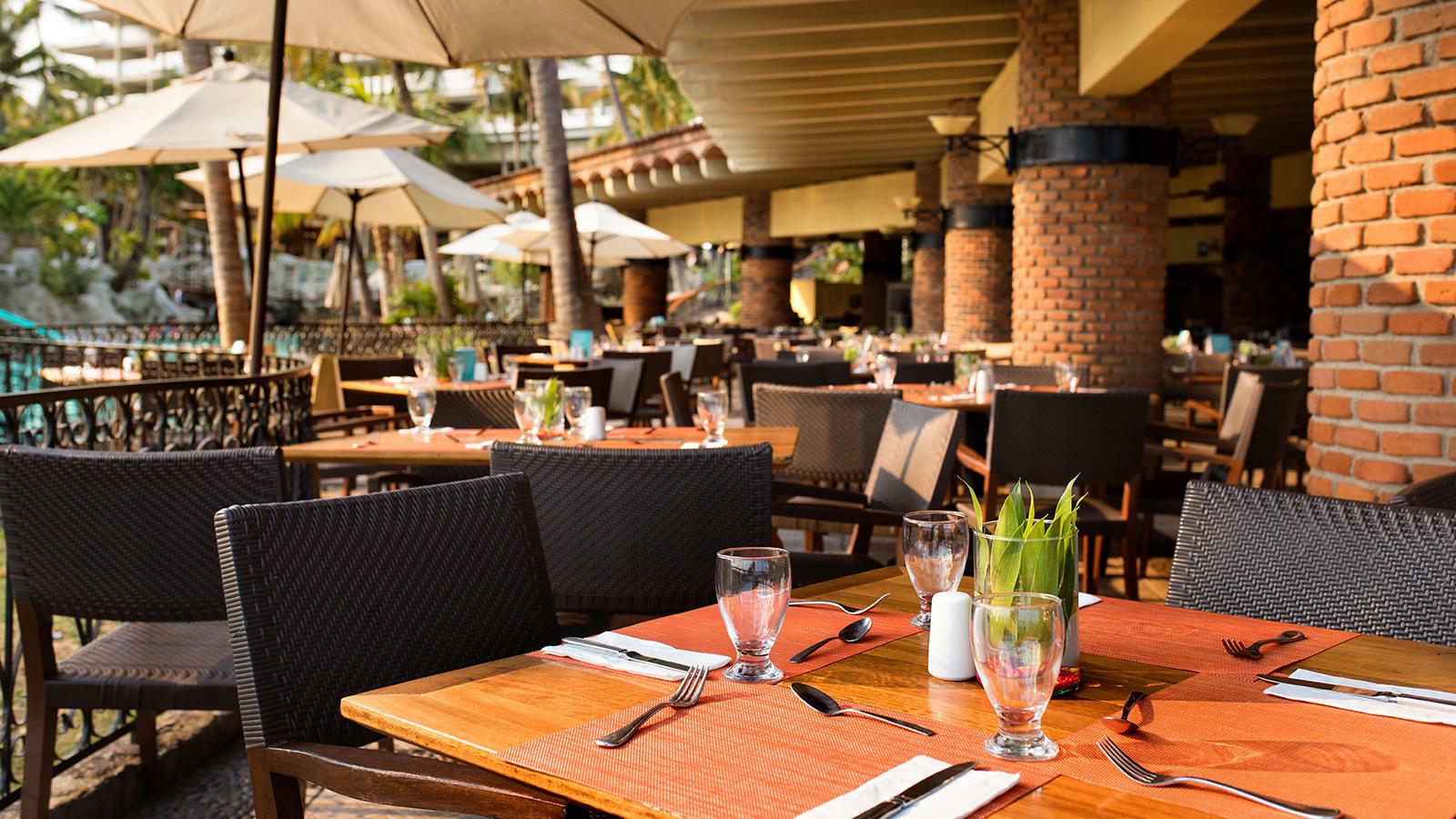 Dining area at Chula Vista Restaurant in Mundo Imperial