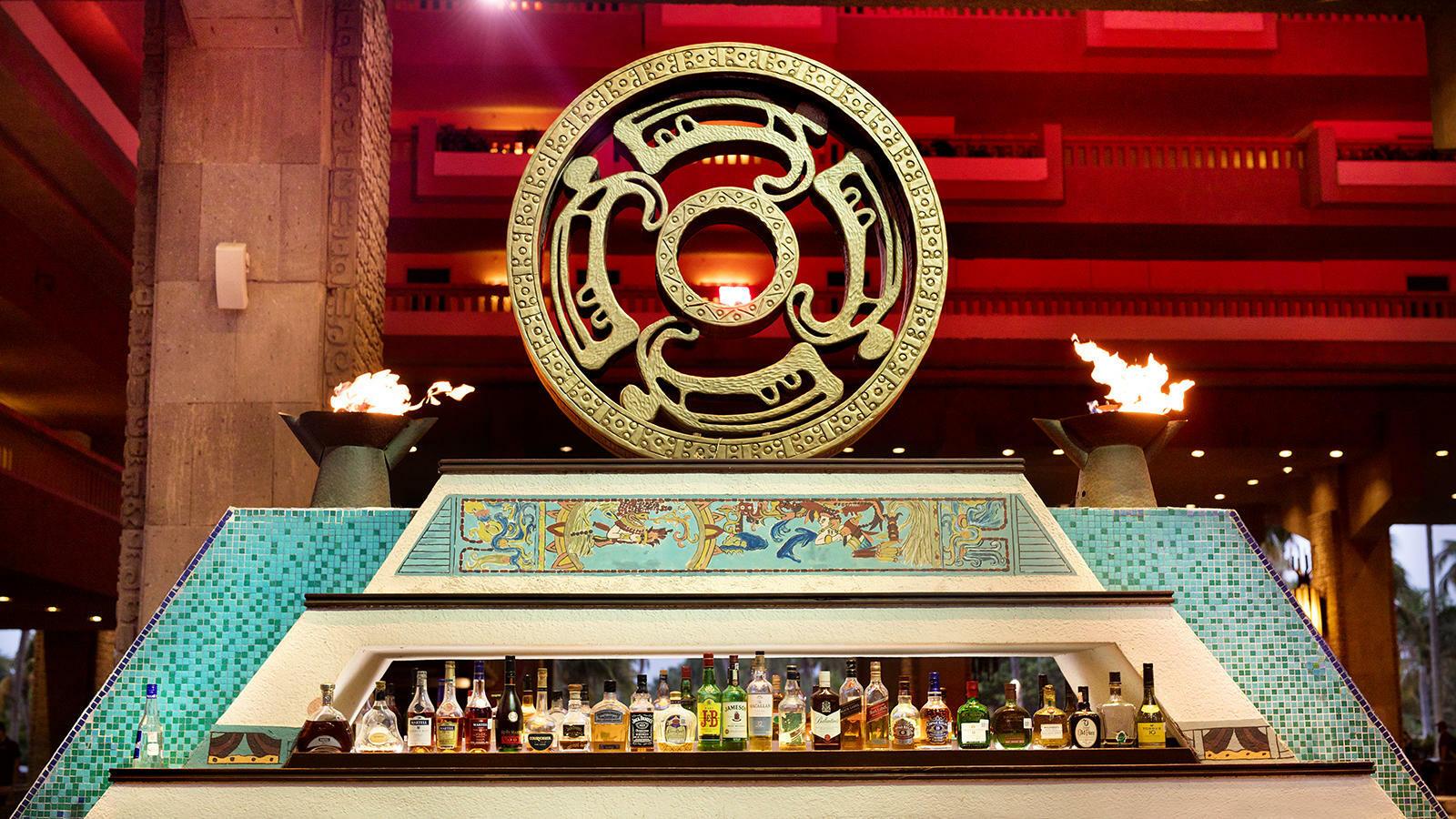 Bar area at Laguna Bar in Mundo Imperial