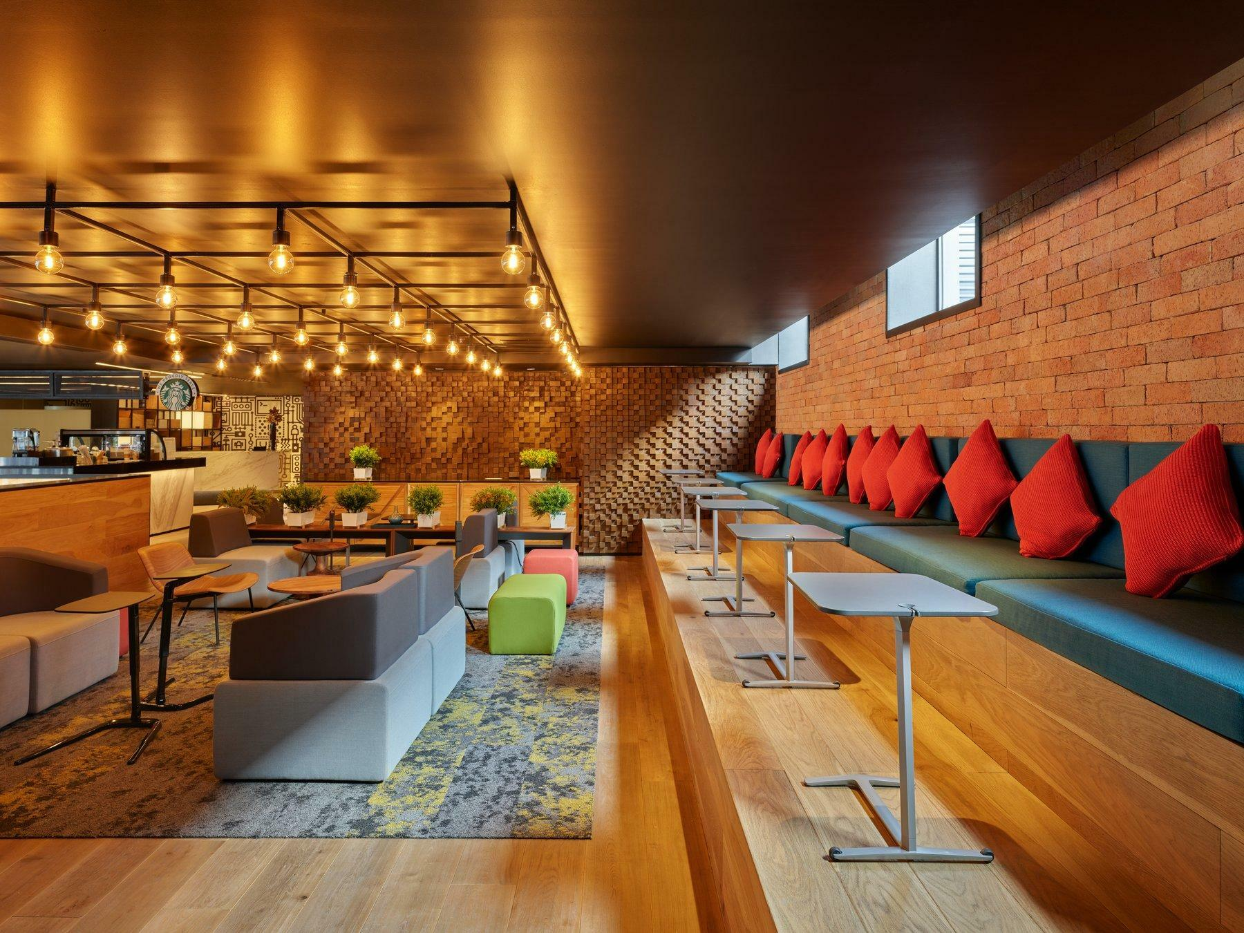 lounge with bench seating
