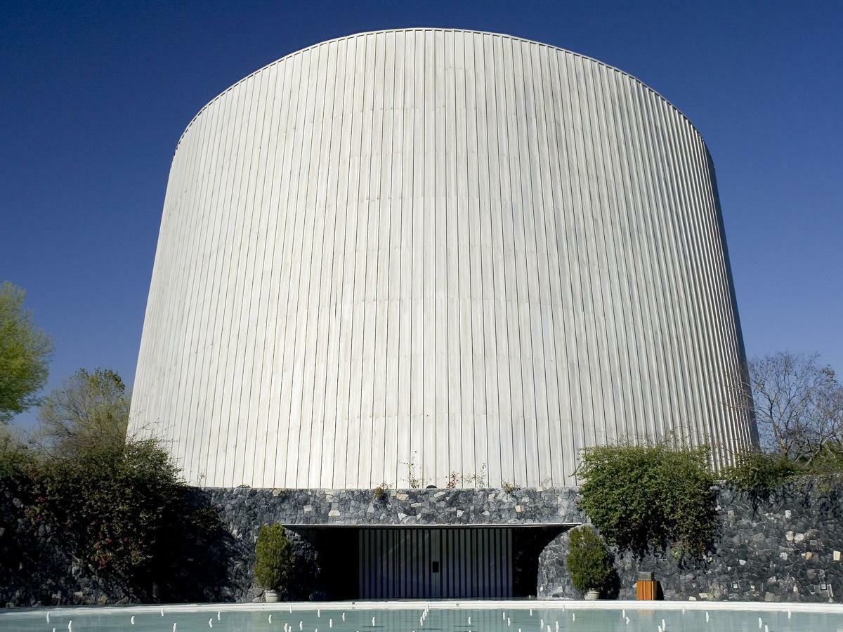 Alfa planetarium building in the Monterrey city