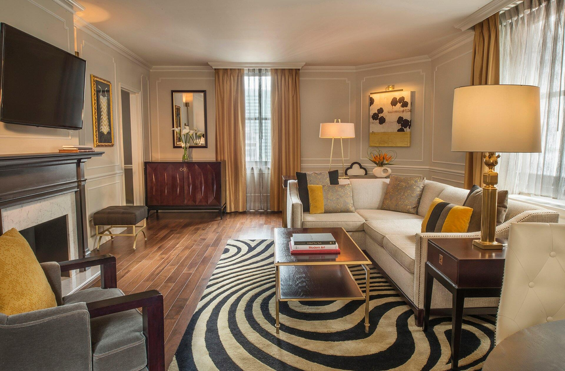 Signature Suite Jane Living Room at Warwick New York