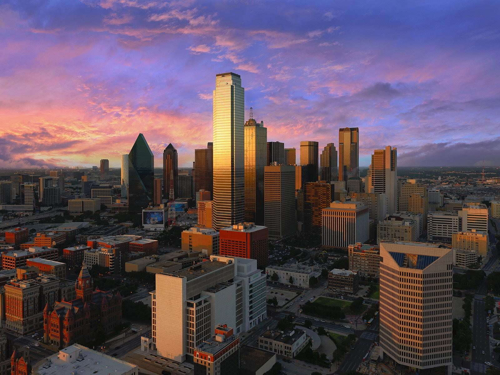 Dallas Skyline Dusk