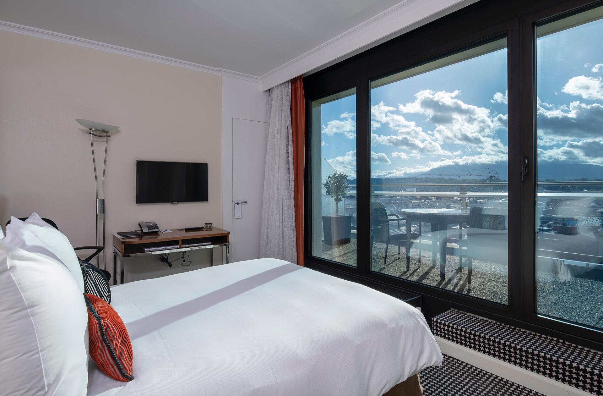 Penthouse view at Warwick Geneva