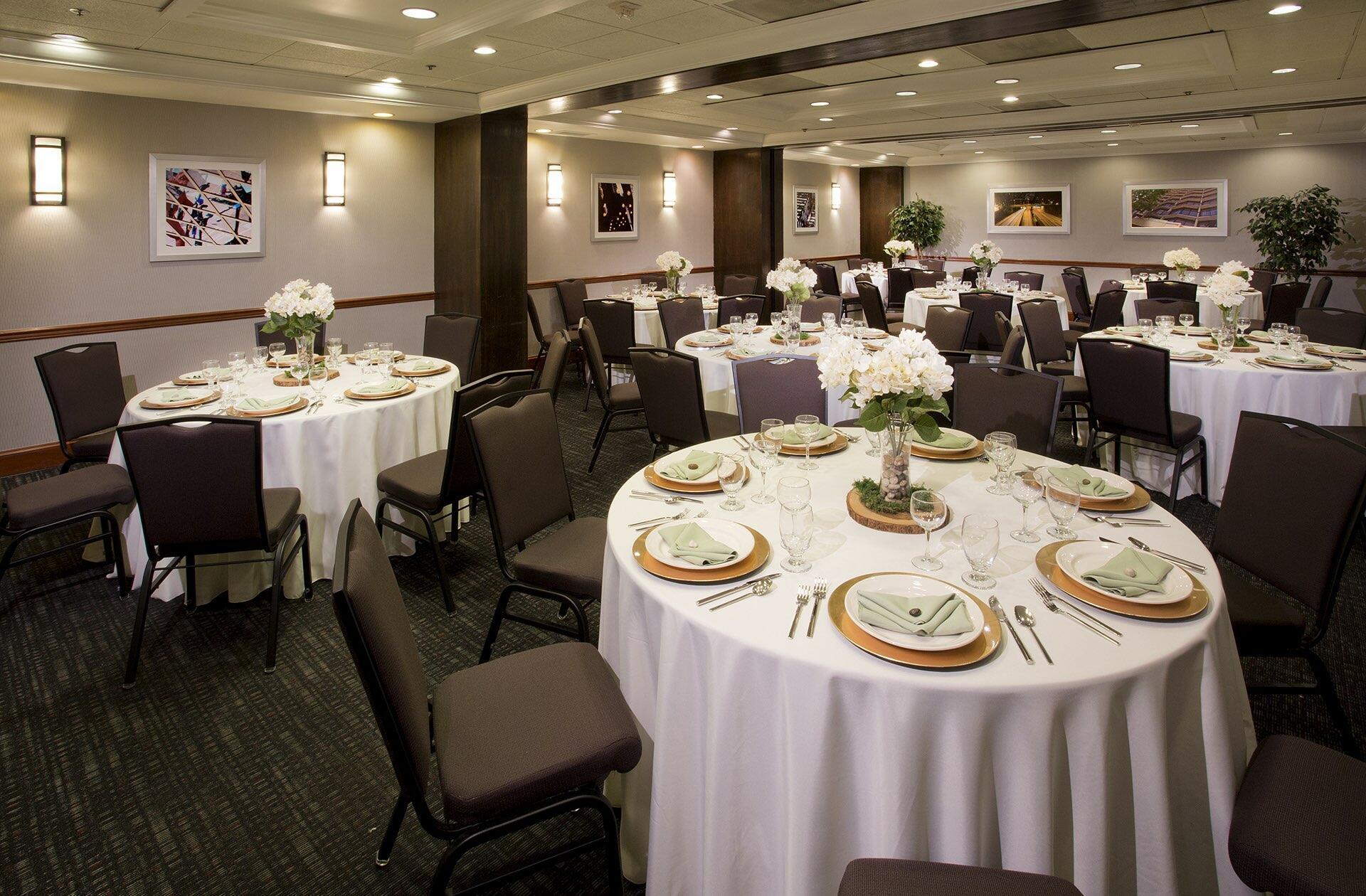 Sasquatch Room Banquet Set at Warwick Seattle