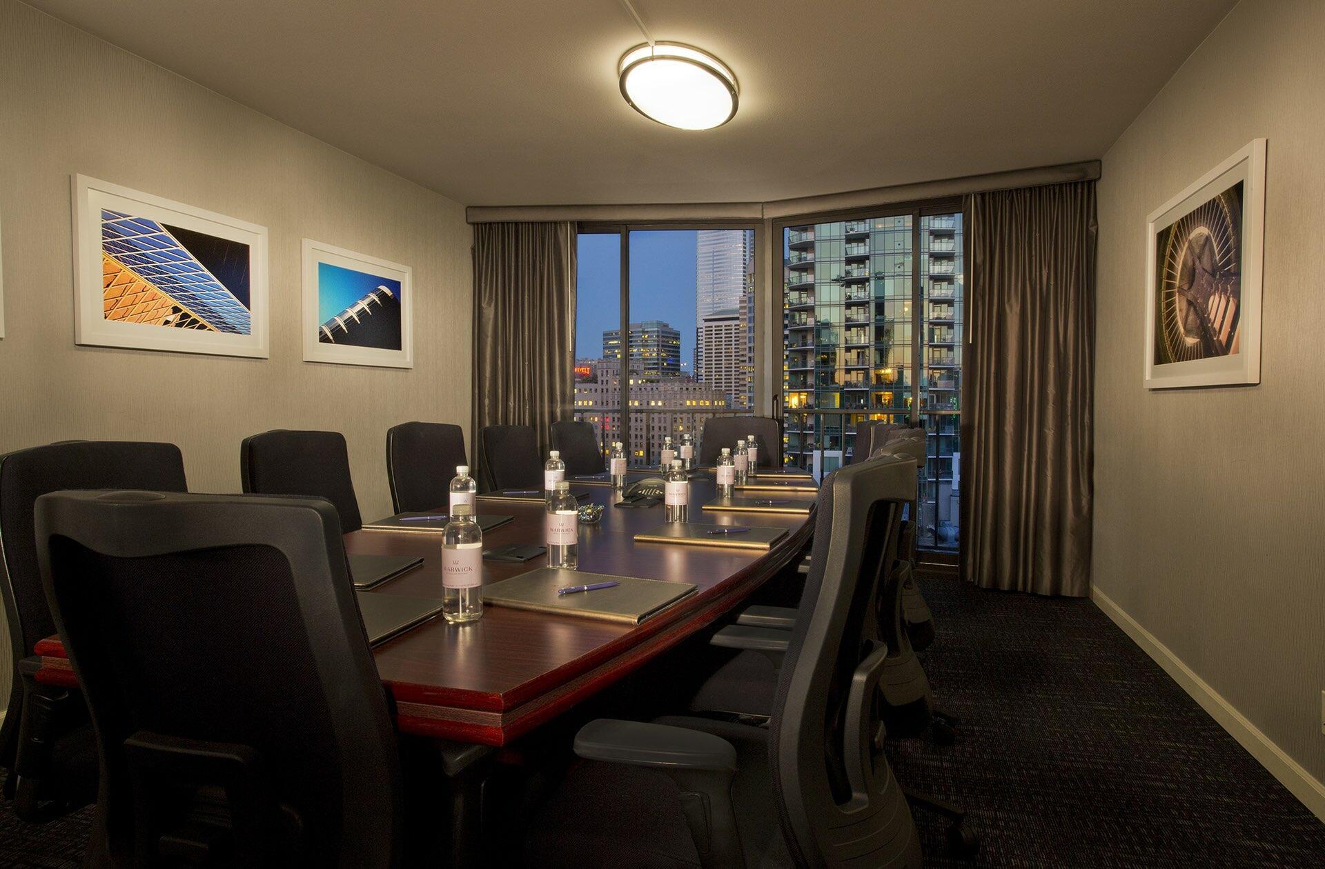 Executive Board Room at Warwick Seattle