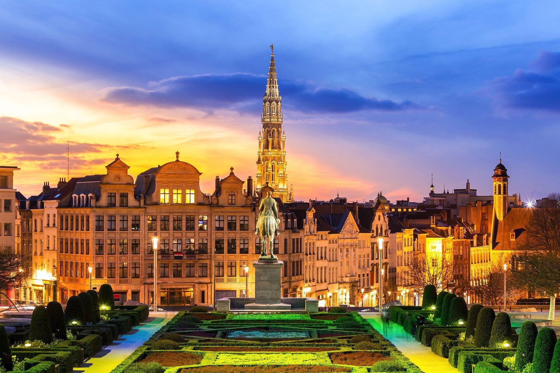 Brussels view Mont des Arts