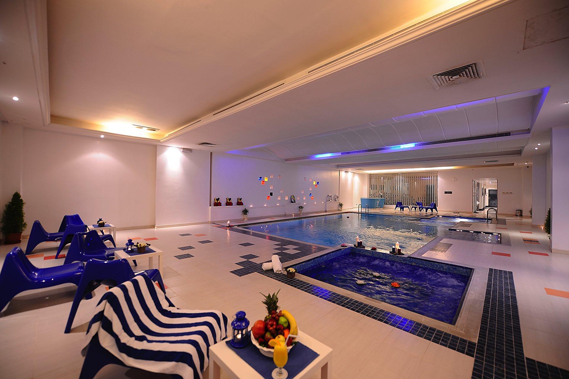 Pool Jacuzzi Angle at Al Hamra Palace by Warwick