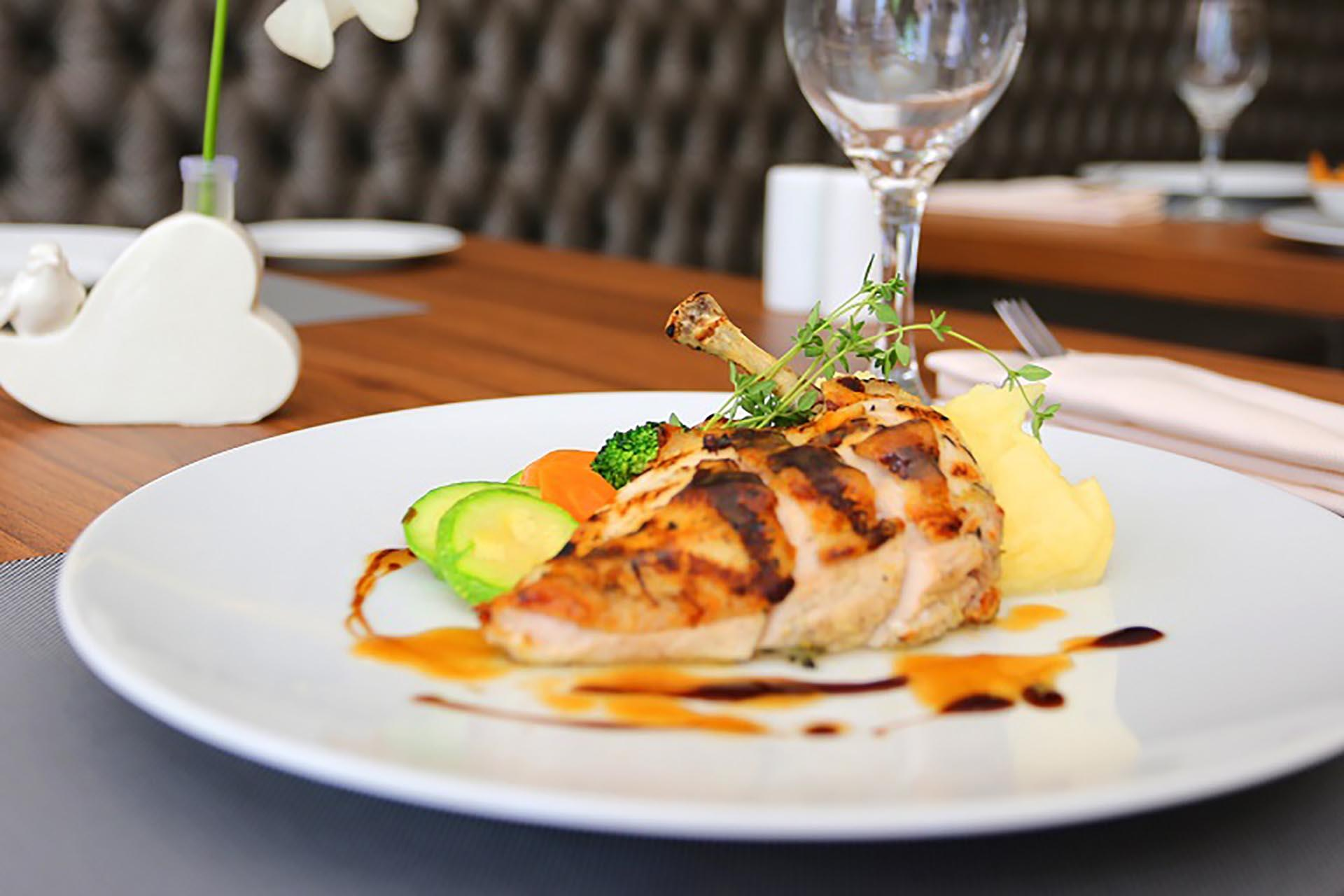 Chicken Dish at Mist Hotel and Spa