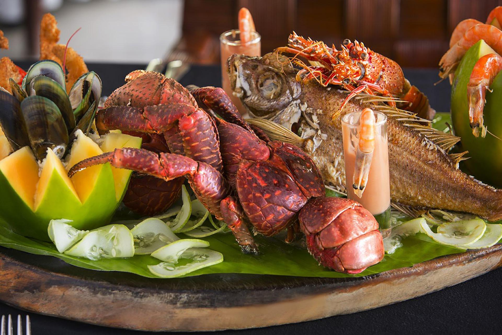 Seafood Platter at Warwick Le Lagon Vanuatu