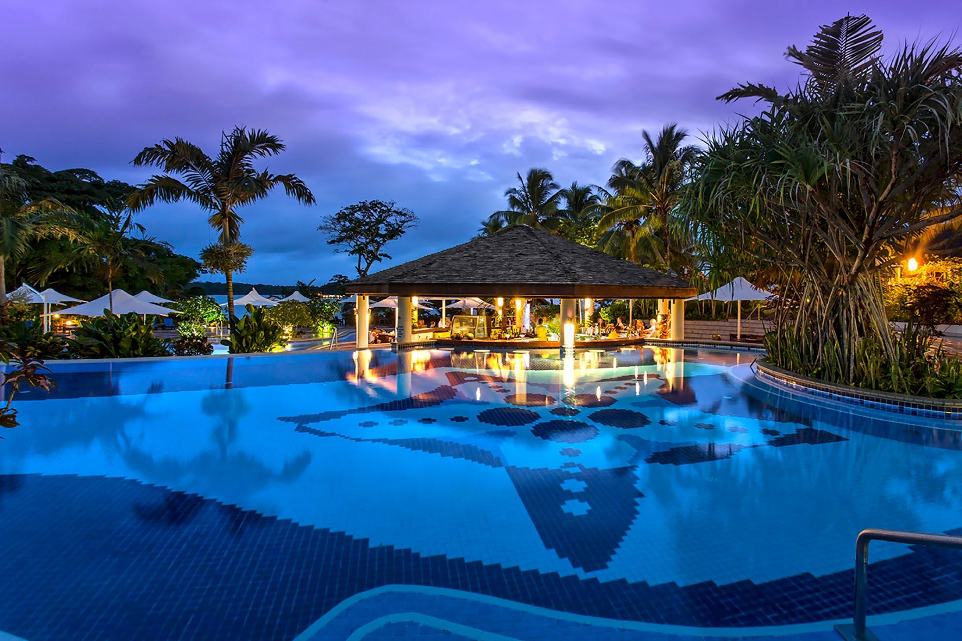 Pool Night at Warwick Le Lagon Vanuatu