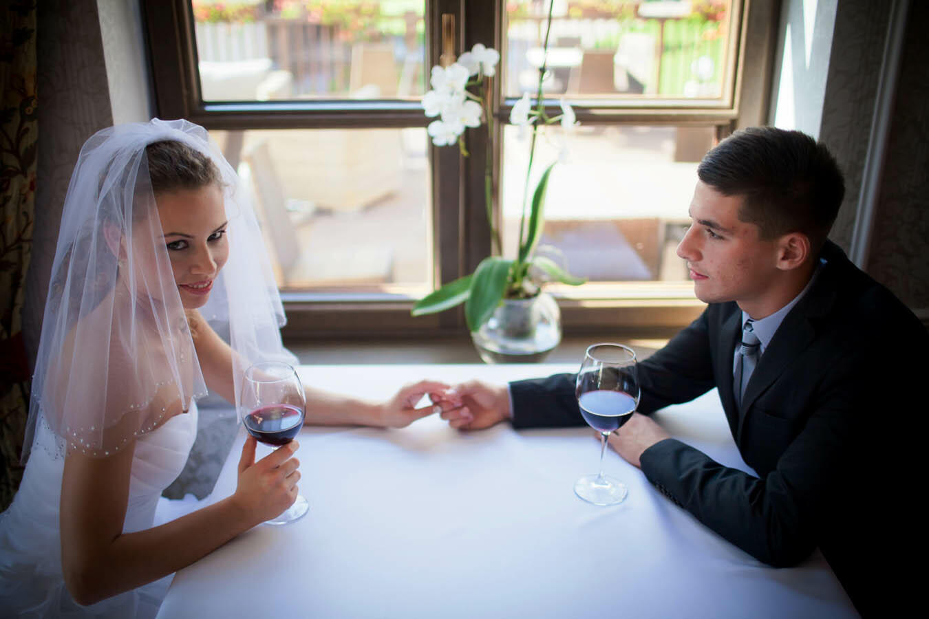 Wedding couple at Hotel Aubrecht Country Spa