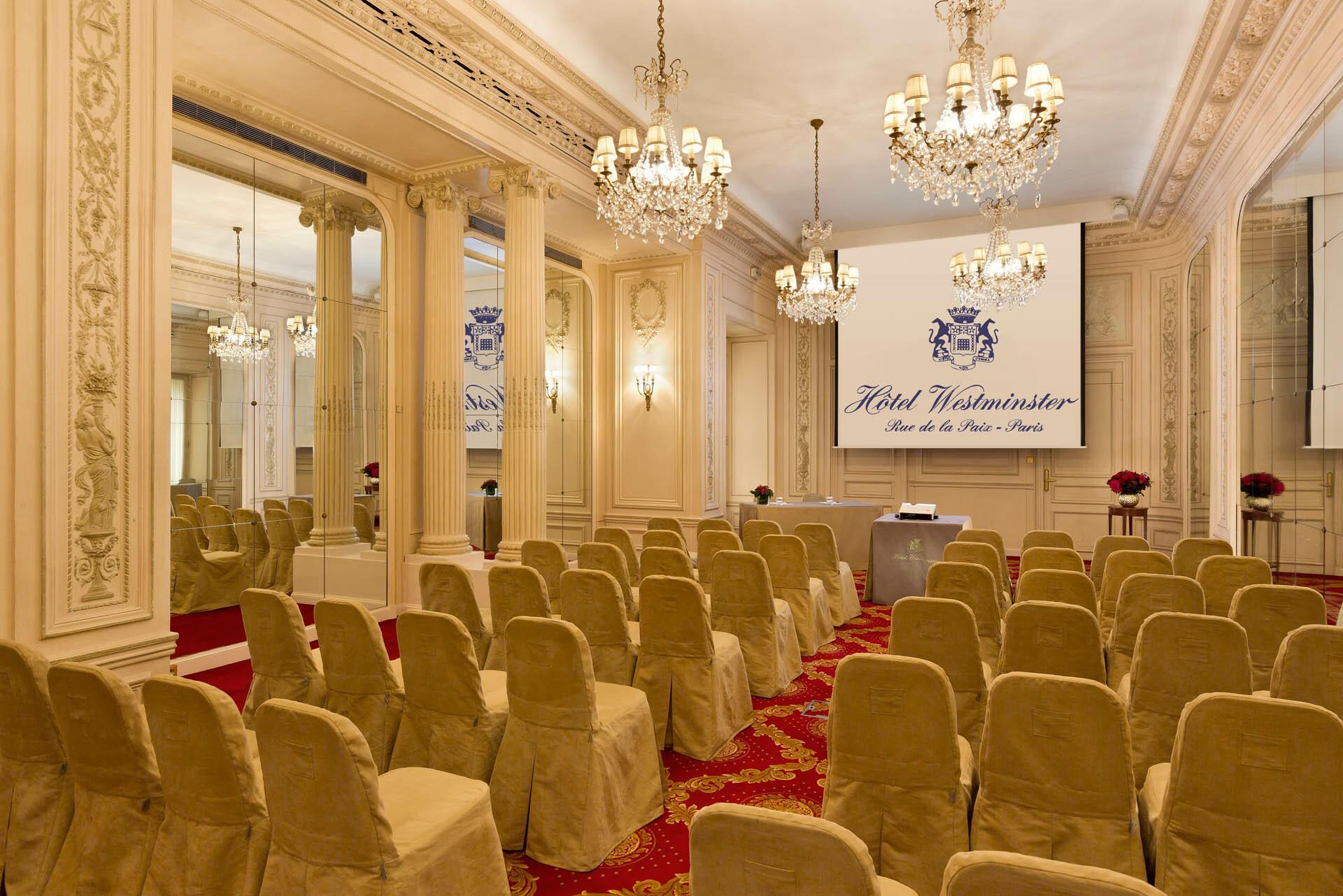 Salle de réunion Récamier à l'Hôtel Westminster