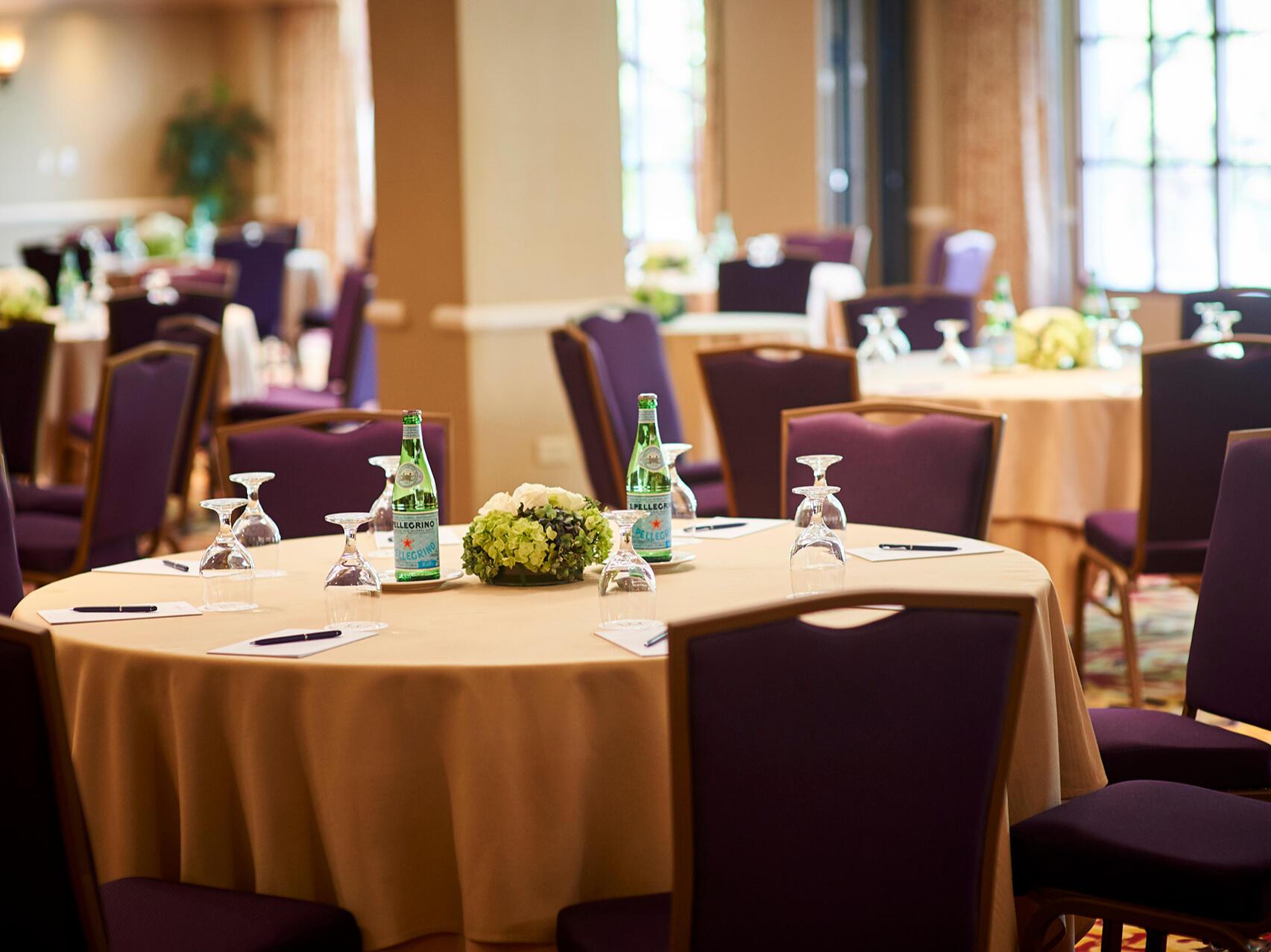 Capitol Meeting Room close up tables at Warwick Denver