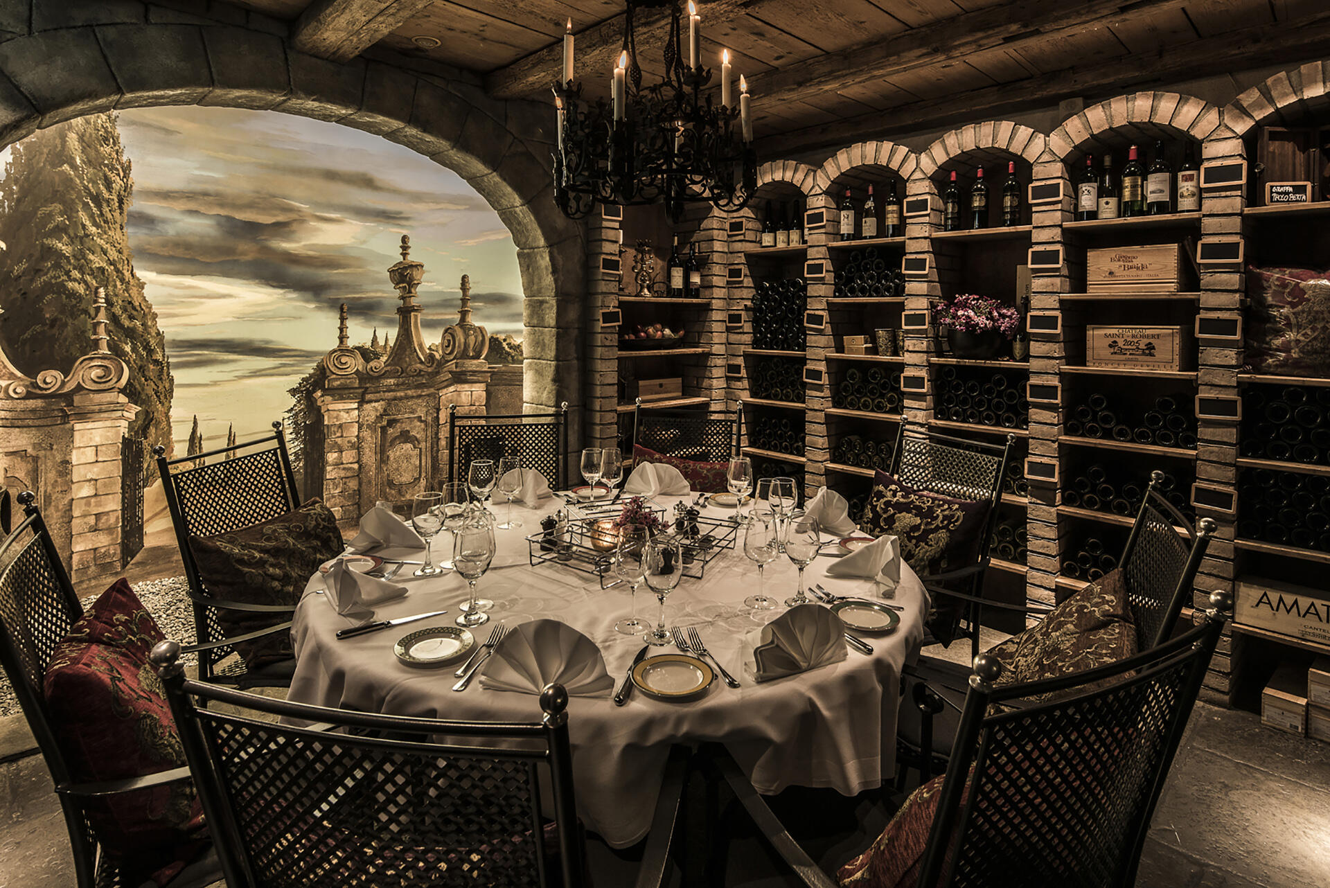 Kings Cave table at Central Plaza Hotel Zurich