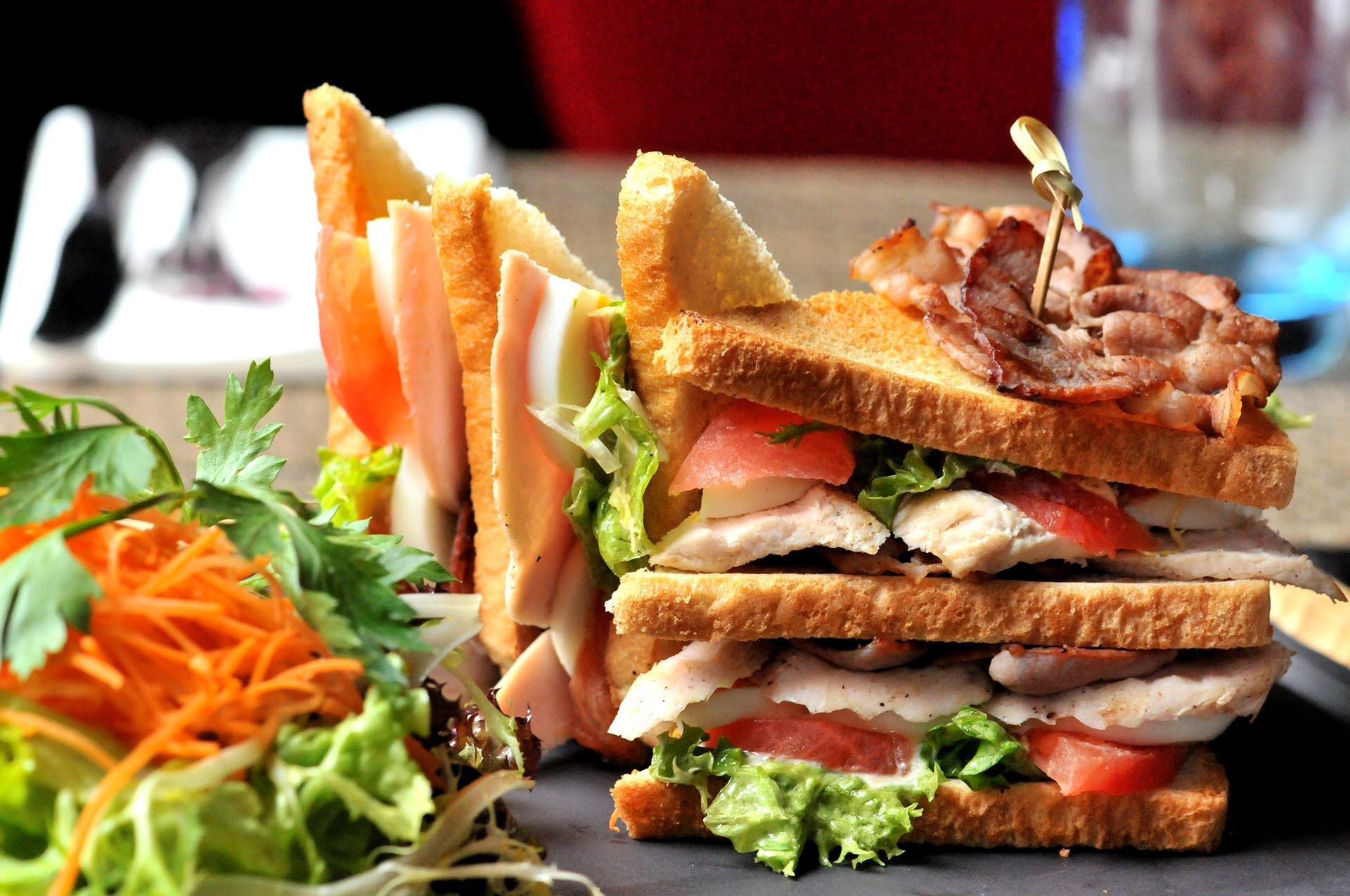 Club Sandwich at The Chutney's Restaurant in Brussels