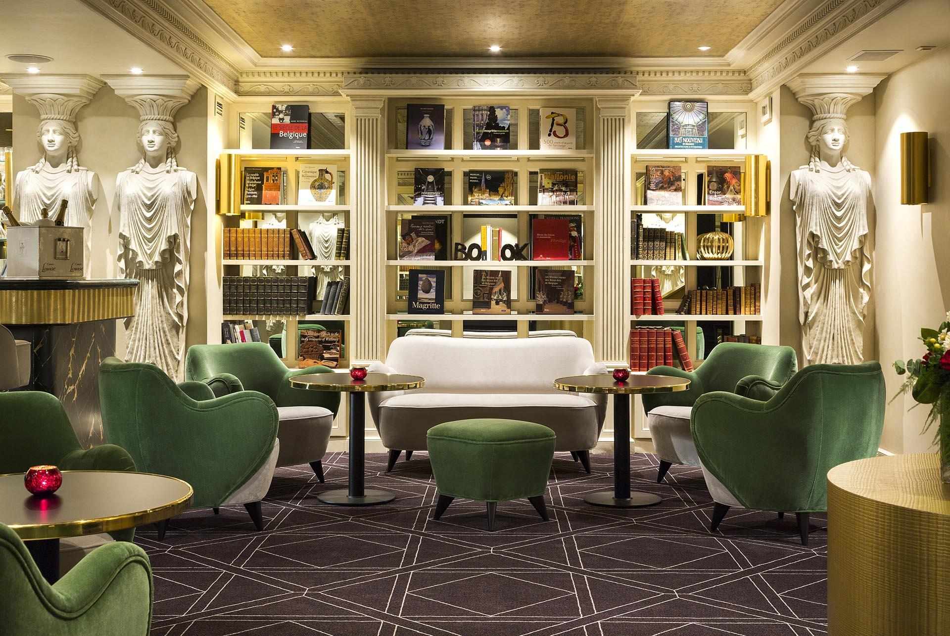 The Avenue Bar's Library at Avenue Louise Brussels
