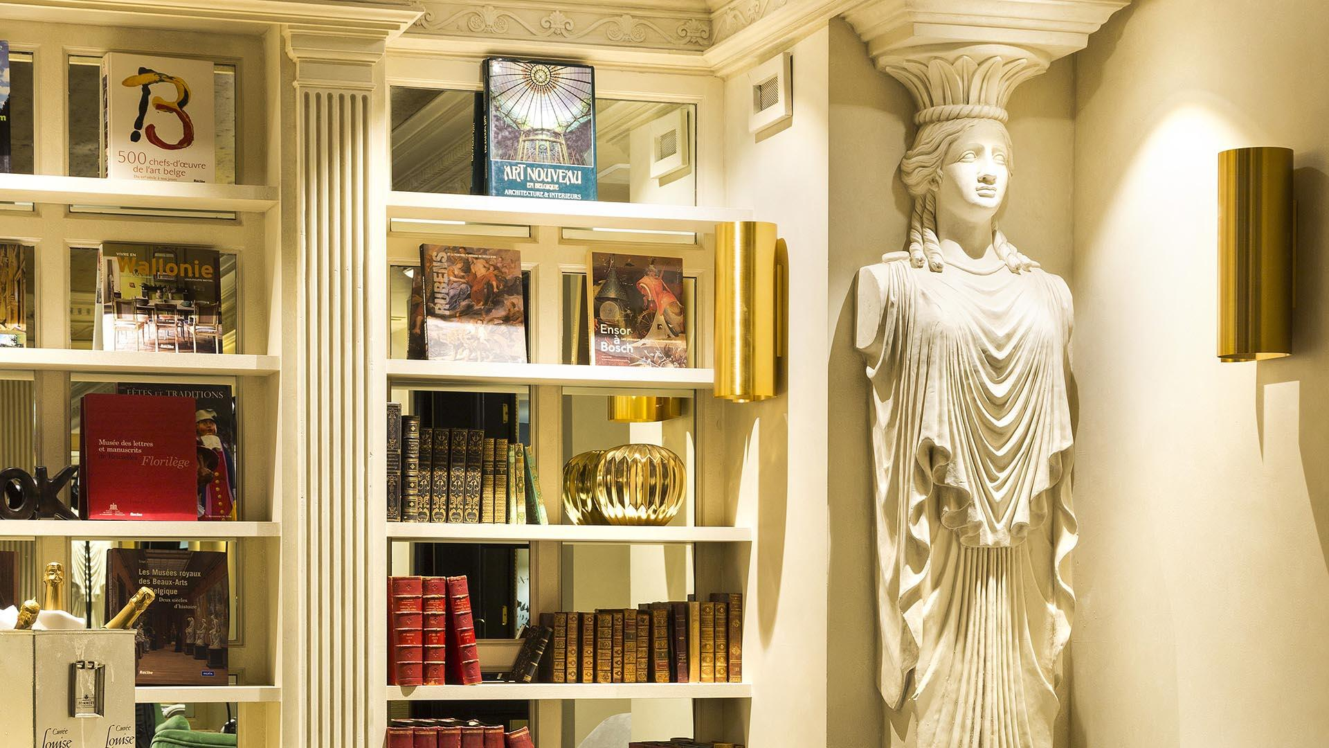 The Avenue Restaurant's Library in Avenue Louise Brussels