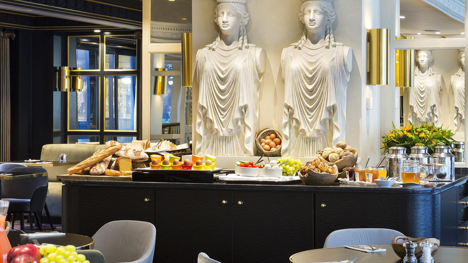 Buffet at The Avenue restaurant at Avenue Louise Brussels