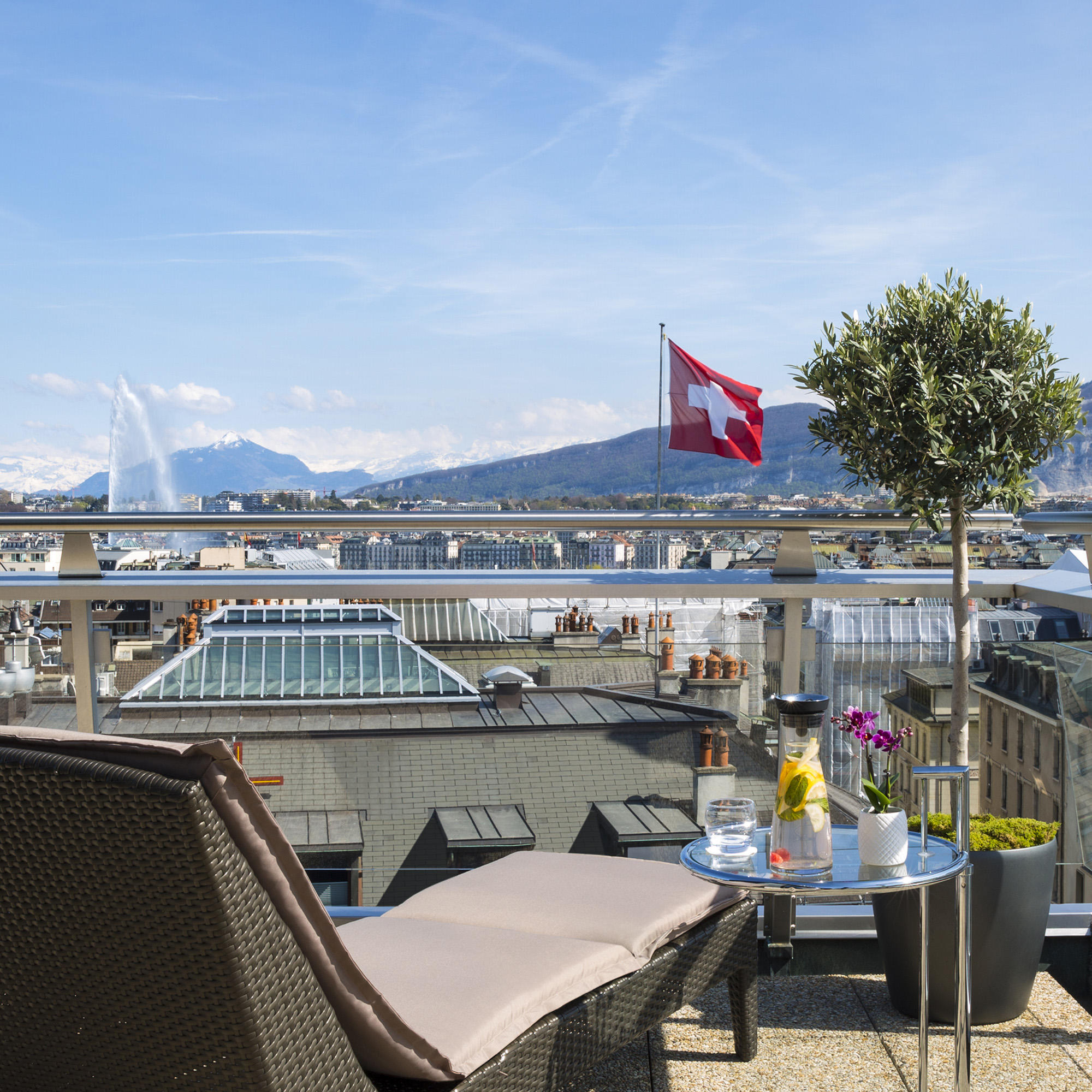 Penthouse Terrace at Warwick Geneva