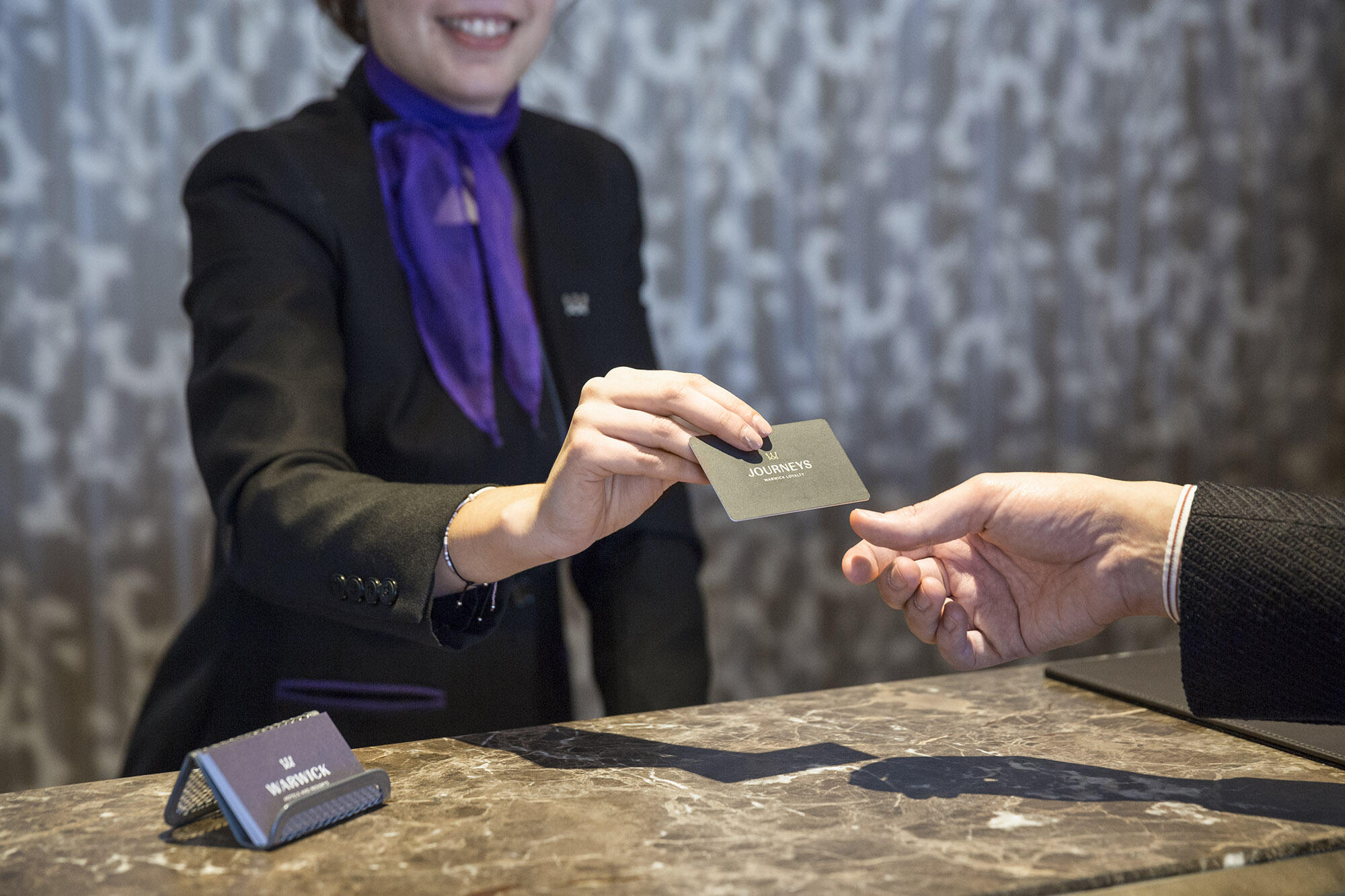 Guest Checking-in as a Warwick Journeys member