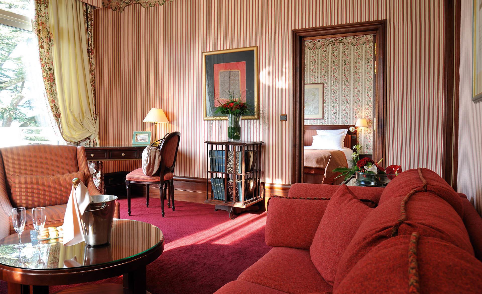 Junior Suite at Domaine de Divonne Hotel in Divonne-les-Bains