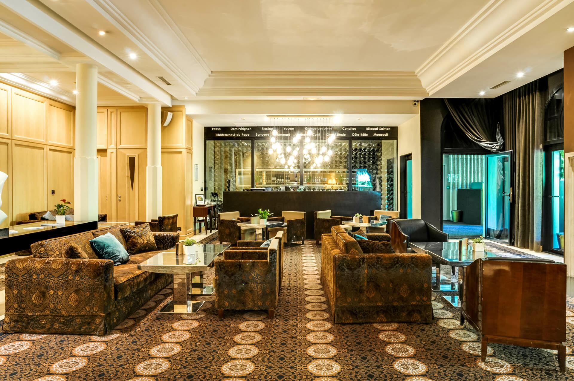 Lounge at Hotel & Spa Le Pavillon near Lyon