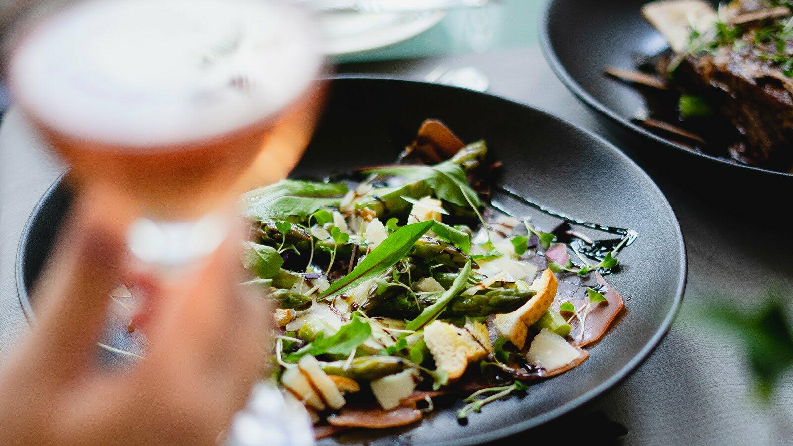 Delicious food with wine at Pullman Cairns International