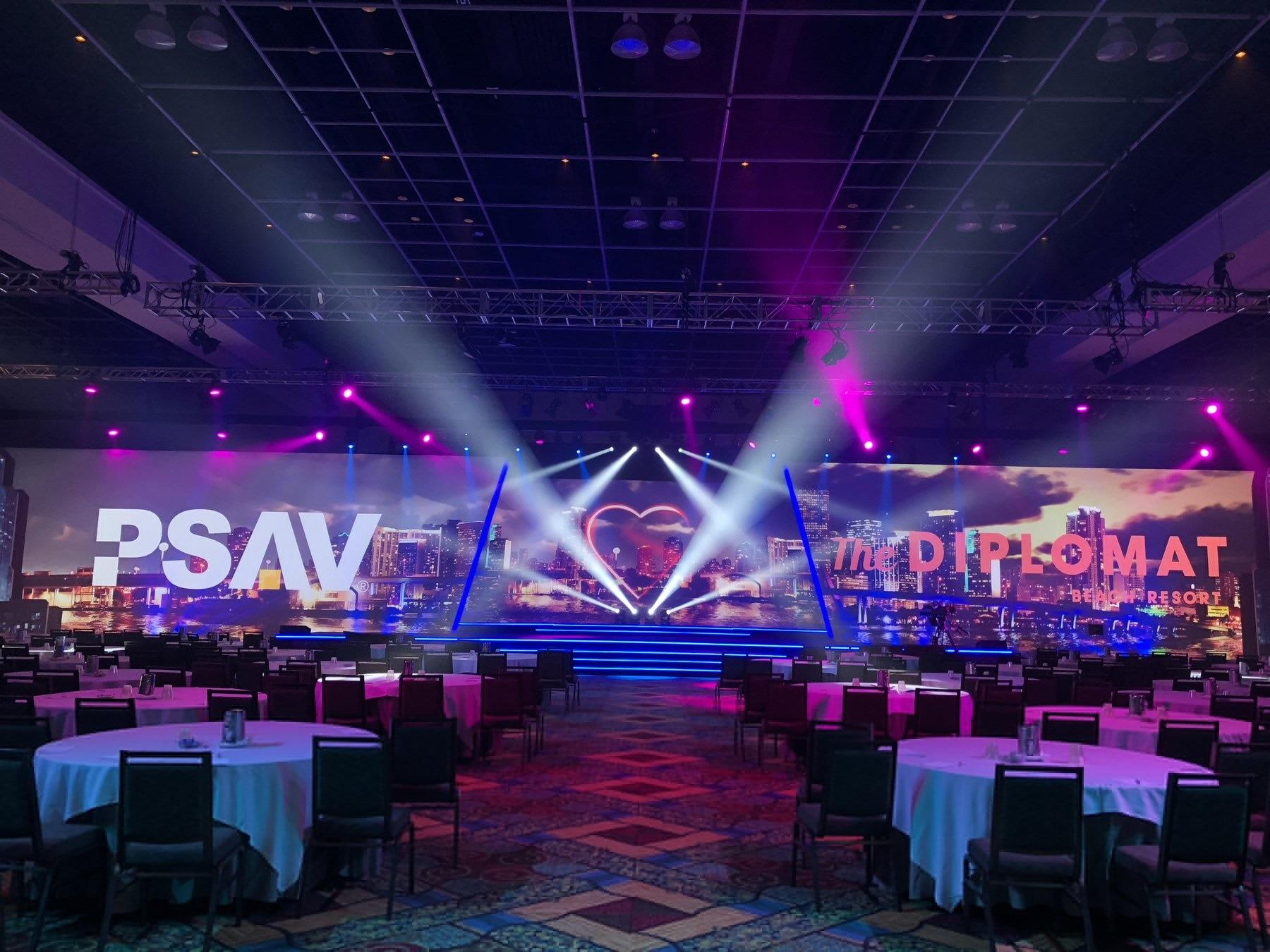 Conference Venue with lights