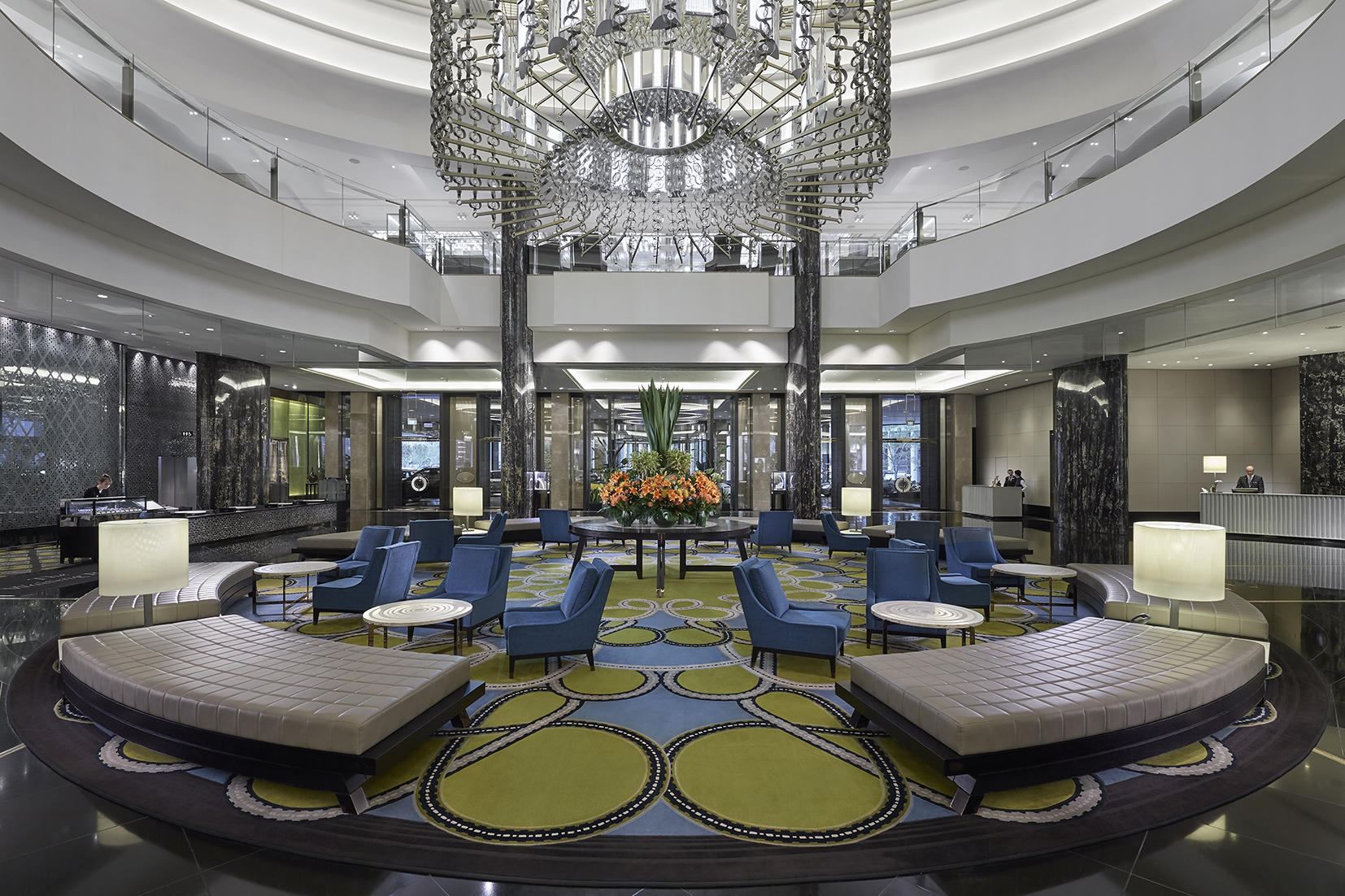 Reception with lobby at Crown Towers Melbourne