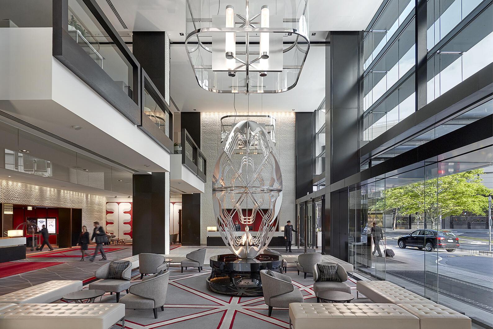 Ground floor lobby at Crown Promenade Melbourne