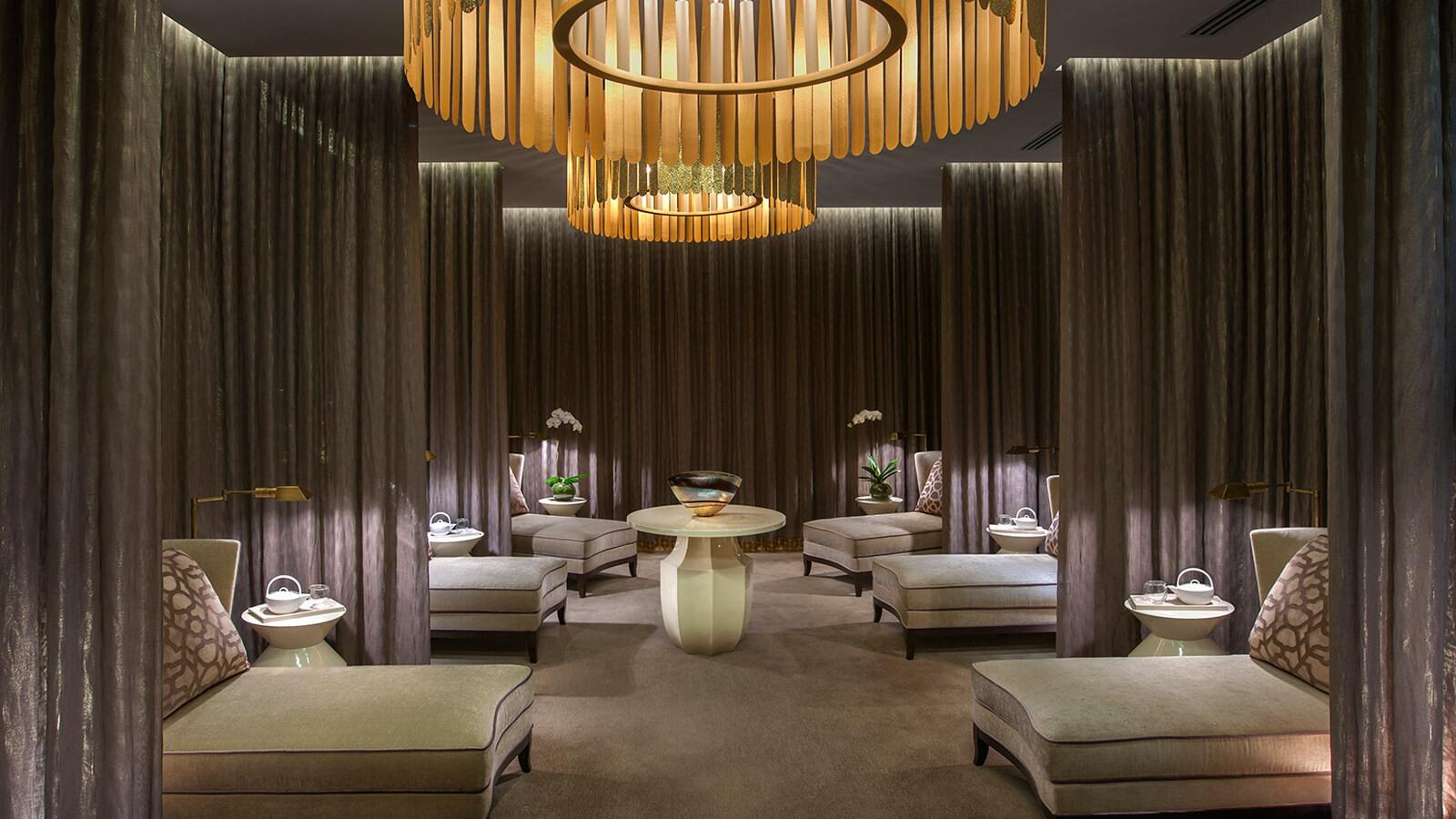 Spa with sofa chairs at Melbourne hotel