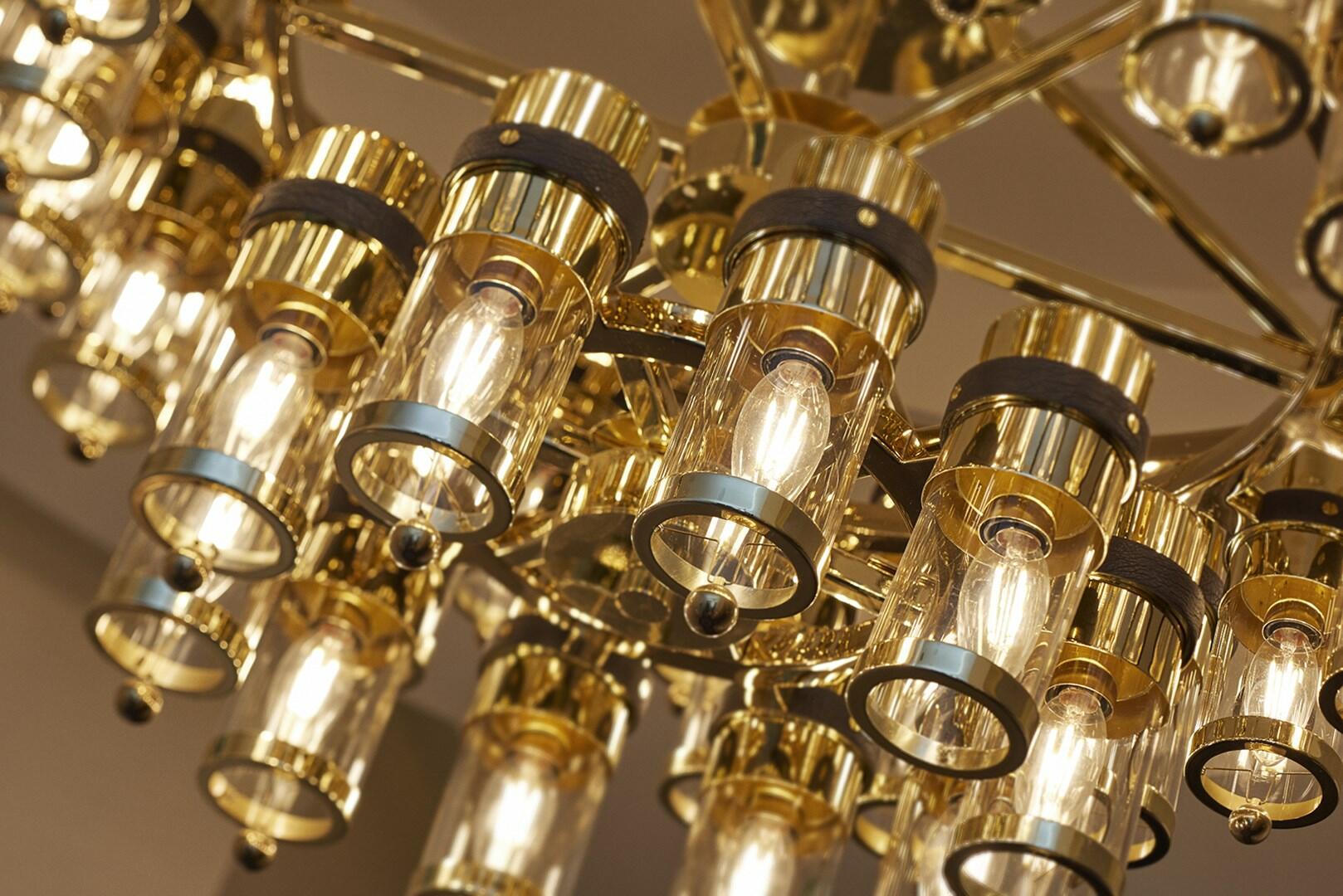 Stylish lampshades at Crown Hotel Perth