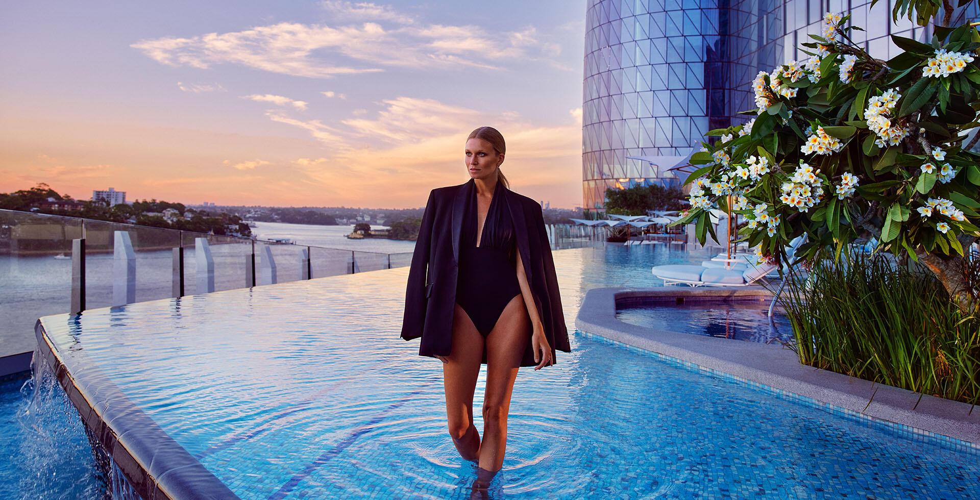 Woman enjoying time at Crown Hotels